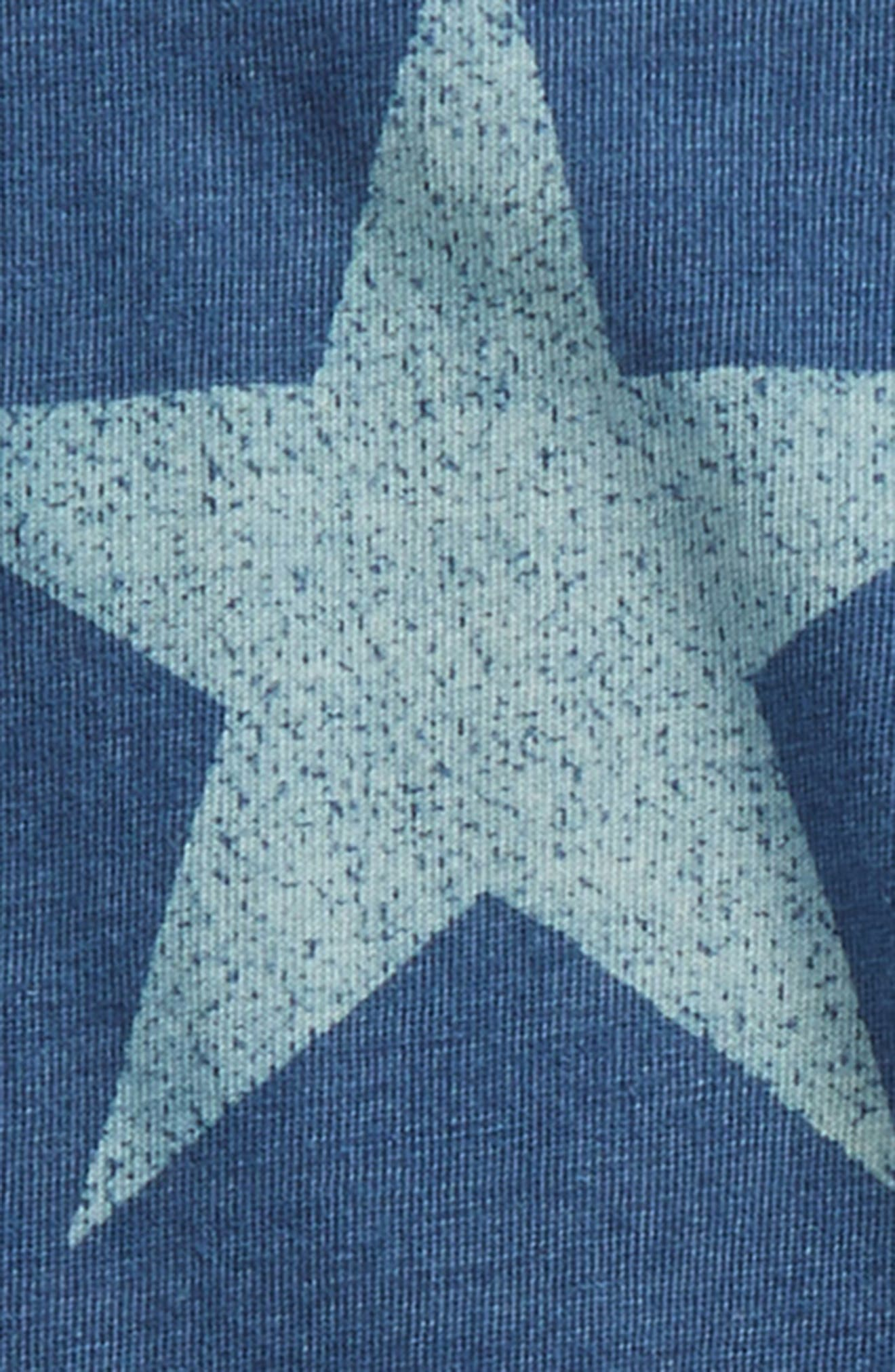 Star Bodysuit & Pants Set,                             Alternate thumbnail 2, color,                             Blue Indigo Star