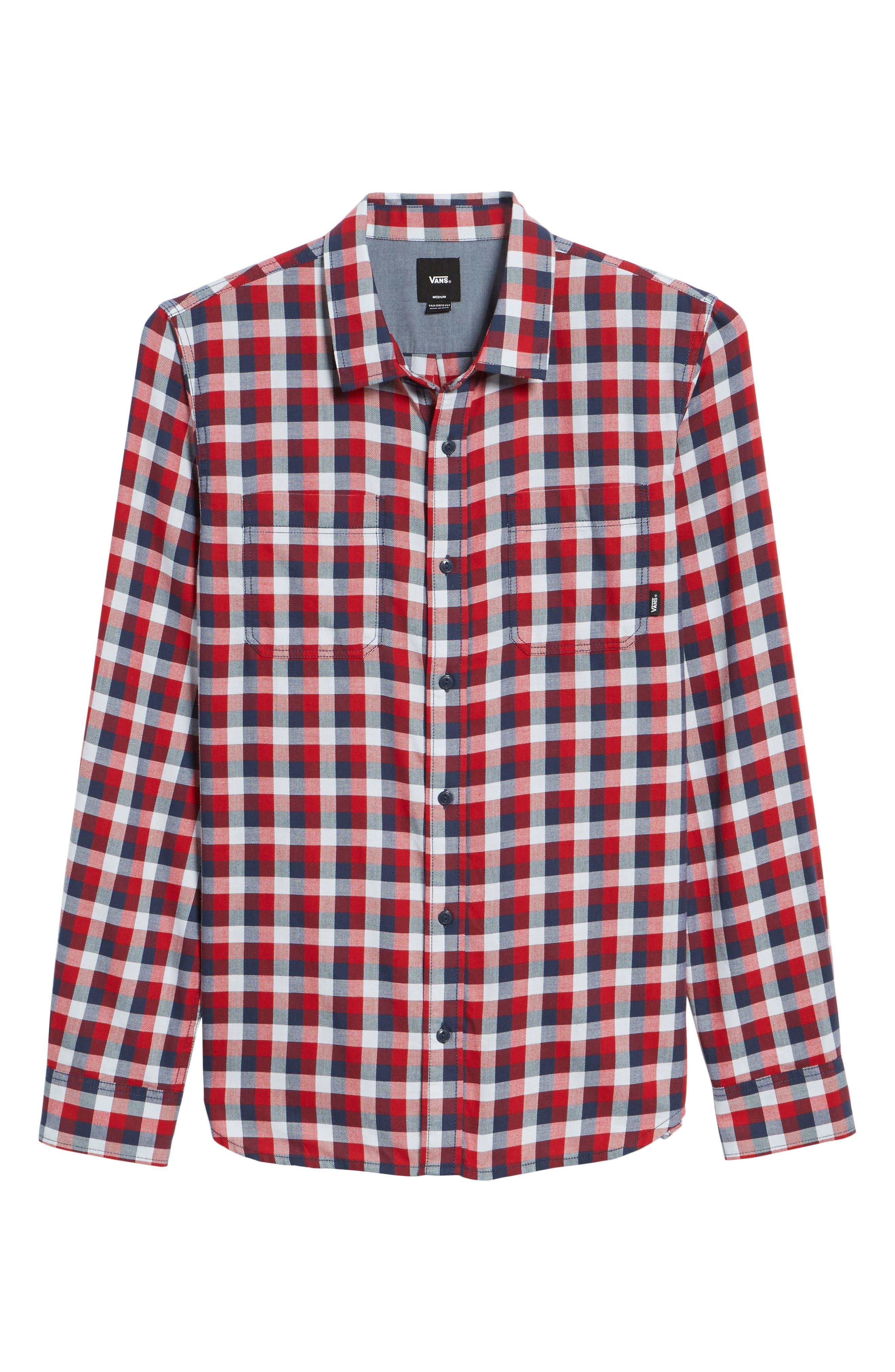 Alternate Image 6  - Vans Alameda II Plaid Flannel Shirt