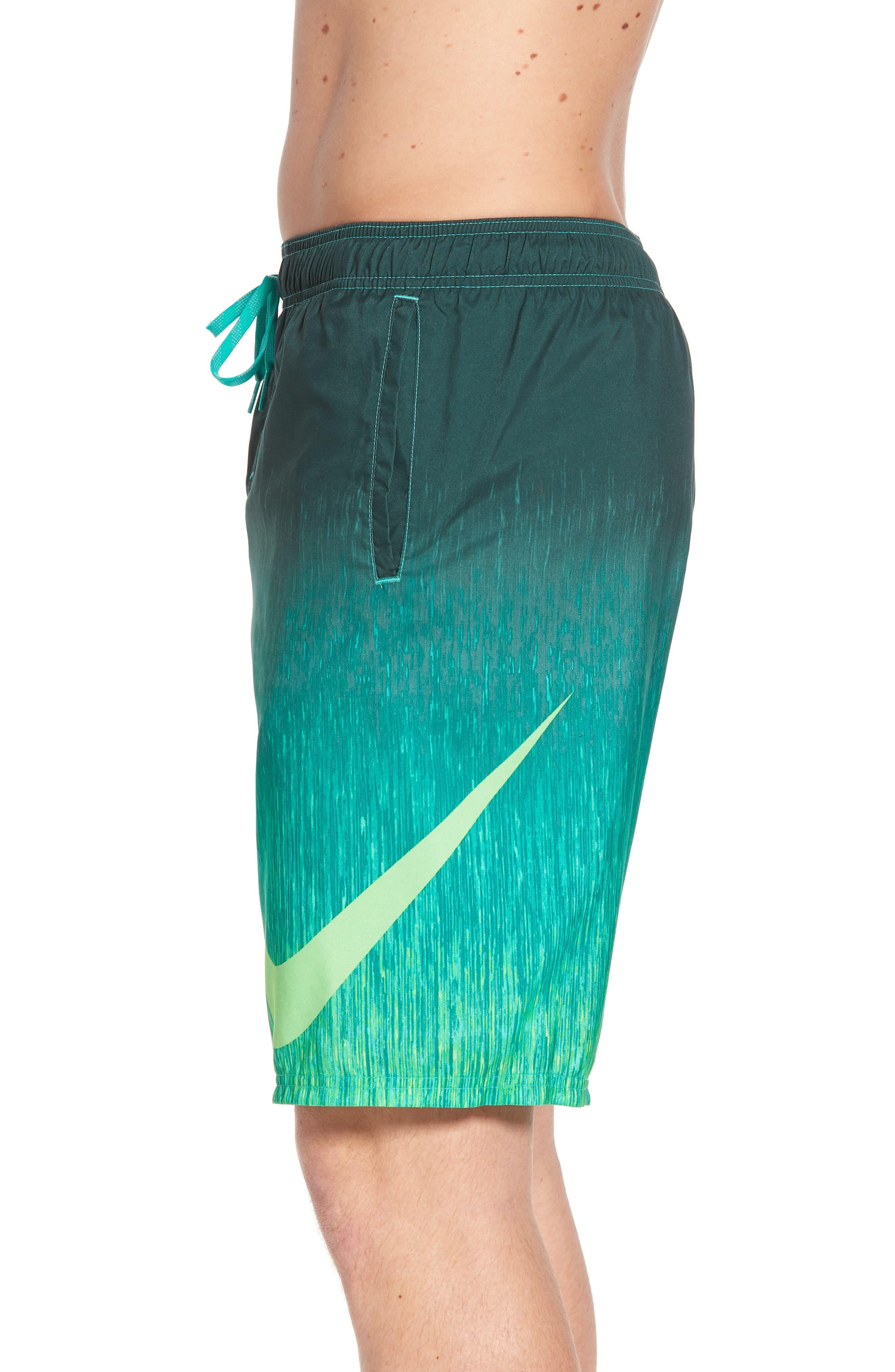 Breaker Swim Trunks,                             Alternate thumbnail 3, color,                             Clear Emerald