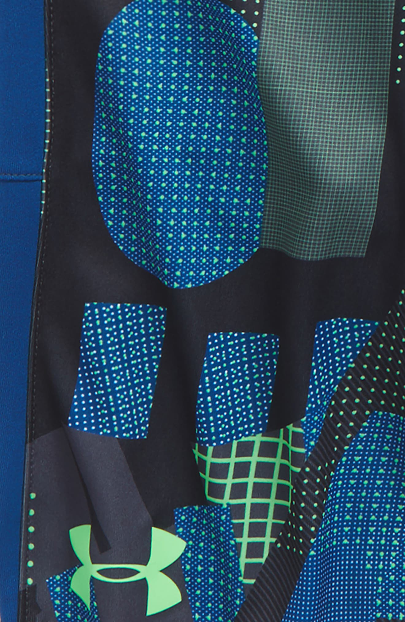 Stunt HeatGear<sup>®</sup> Shorts,                             Alternate thumbnail 2, color,                             Arena Green/ Moroccan Blue