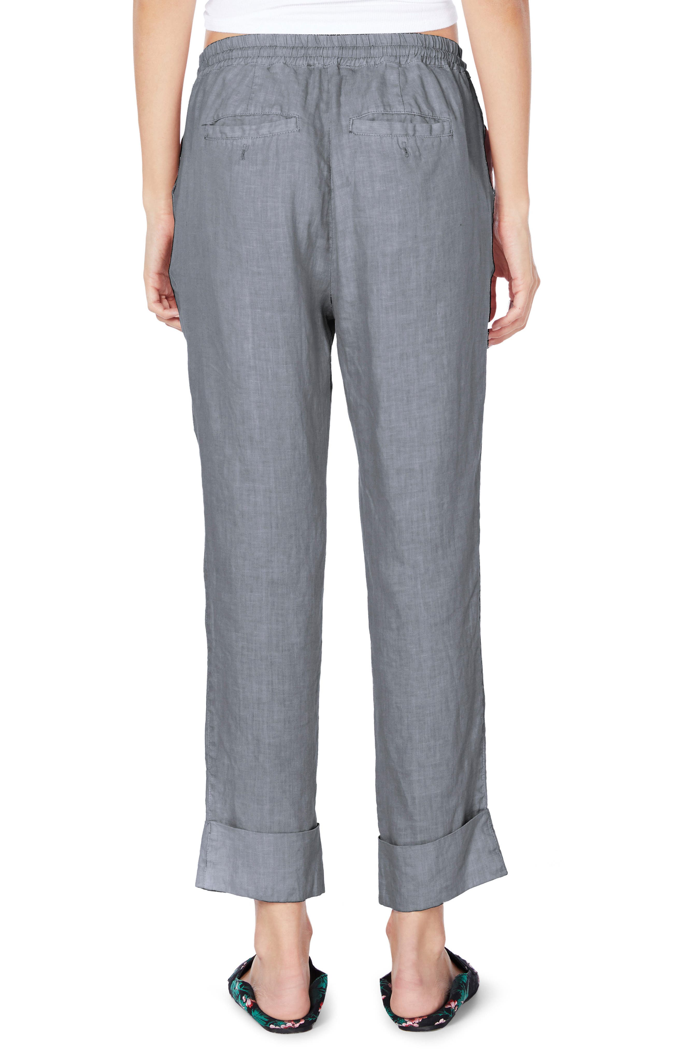 Cuffed Linen Pants,                             Alternate thumbnail 2, color,                             Galvanized