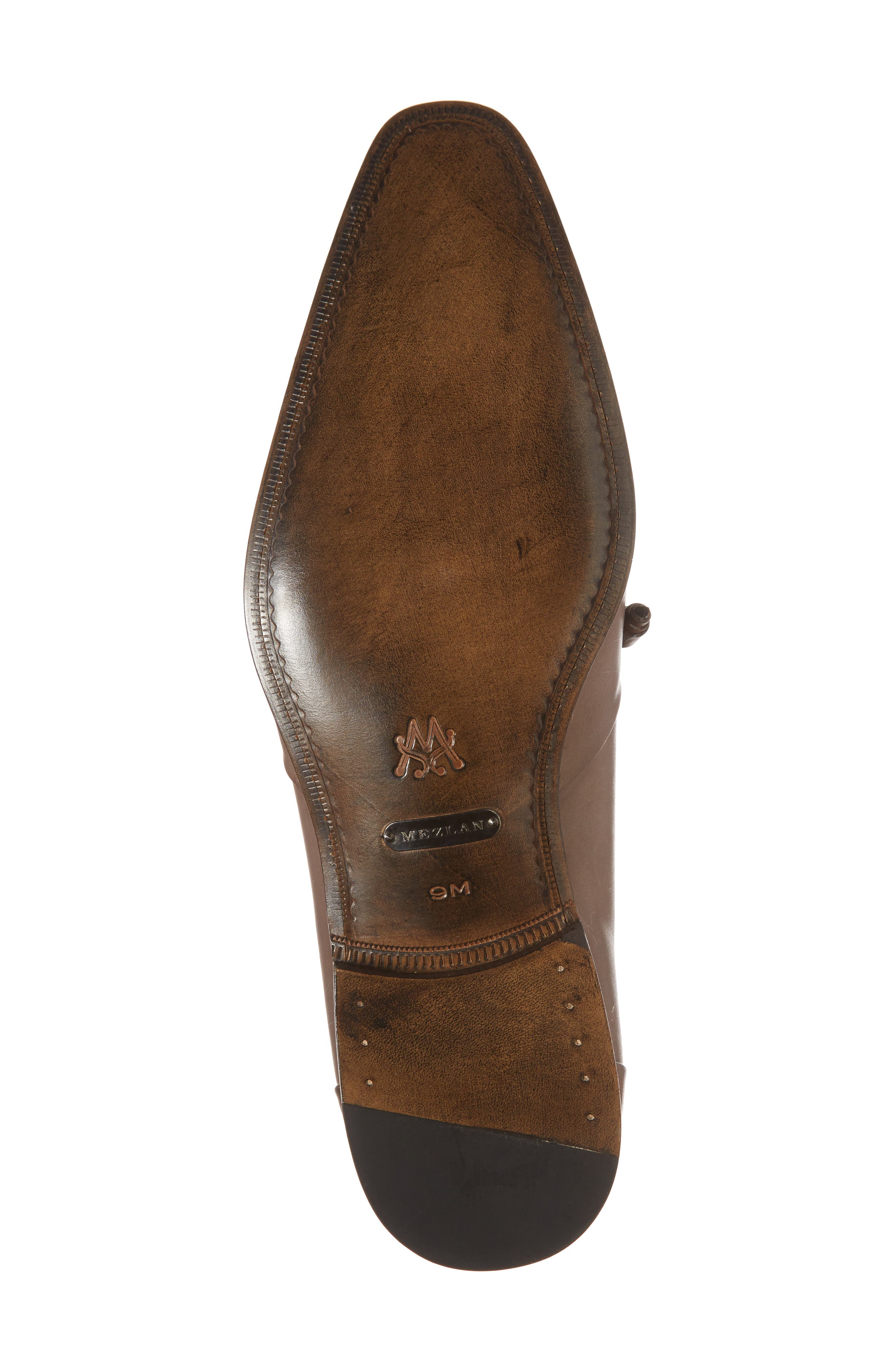 Julius Spectator Oxford,                             Alternate thumbnail 6, color,                             Cognac/ Taupe Leather