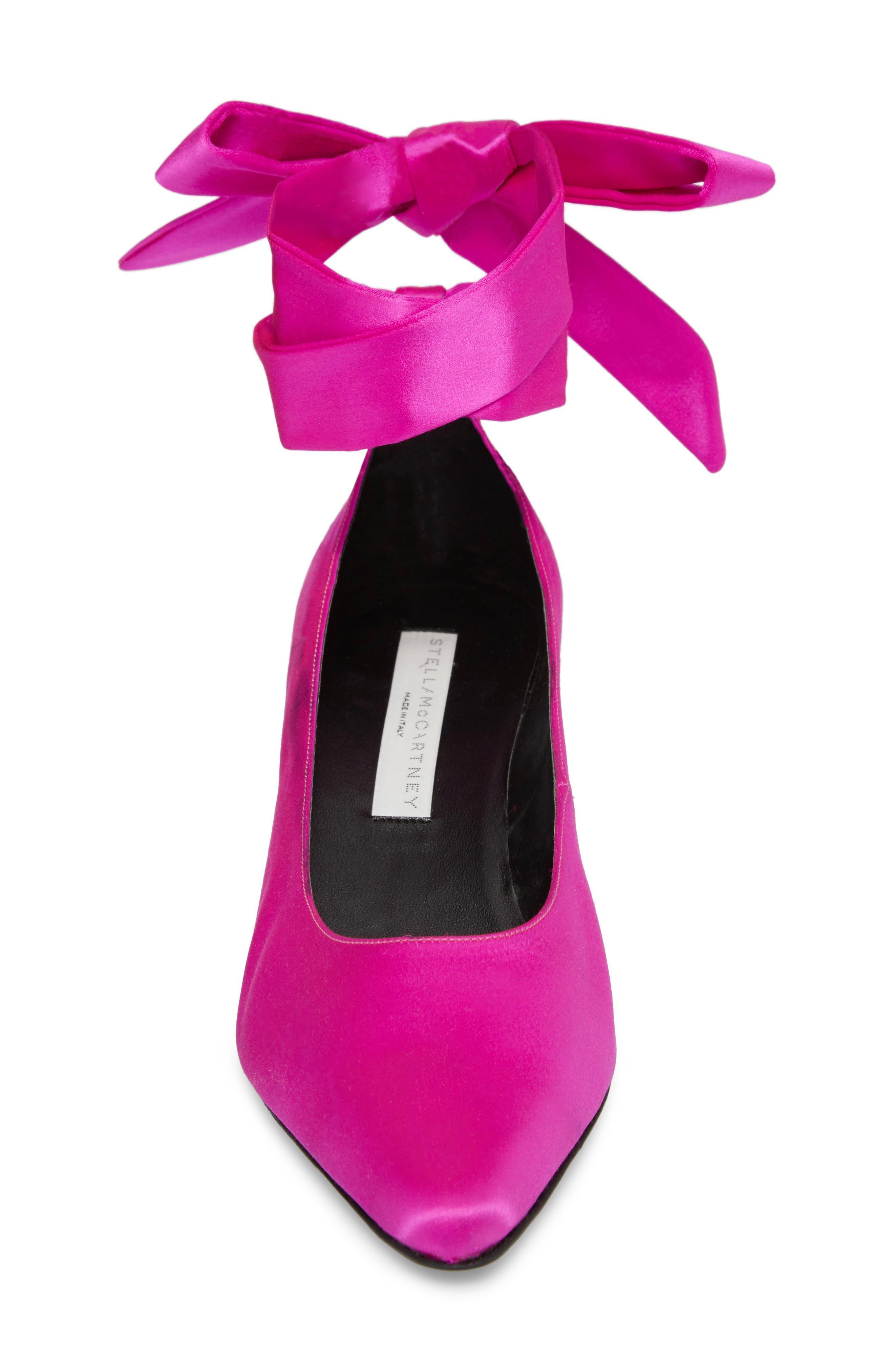 Ankle Wrap Pump,                             Alternate thumbnail 4, color,                             Pink