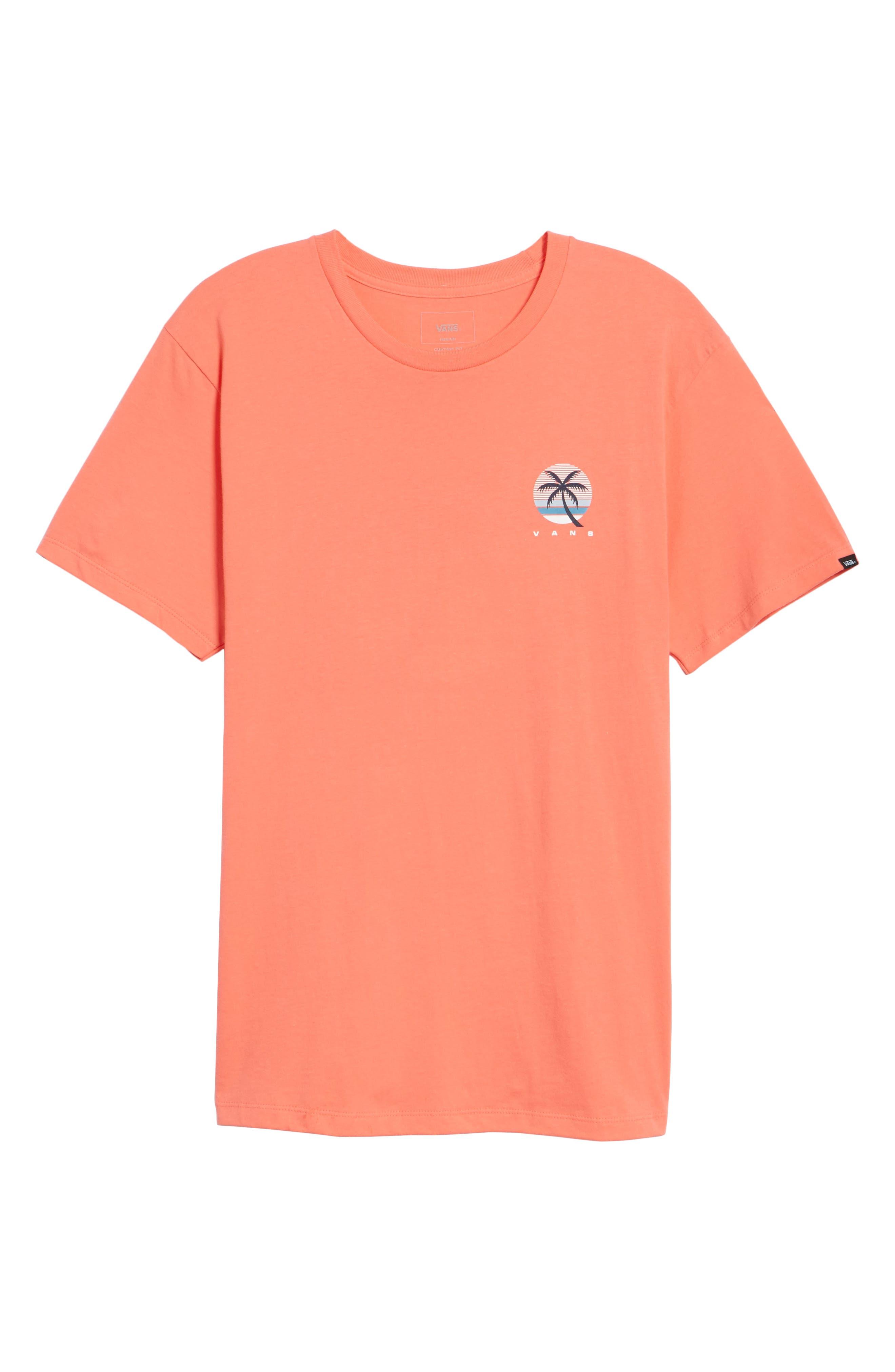 Tall Palms Graphic T-Shirt,                             Alternate thumbnail 6, color,                             Dubarry
