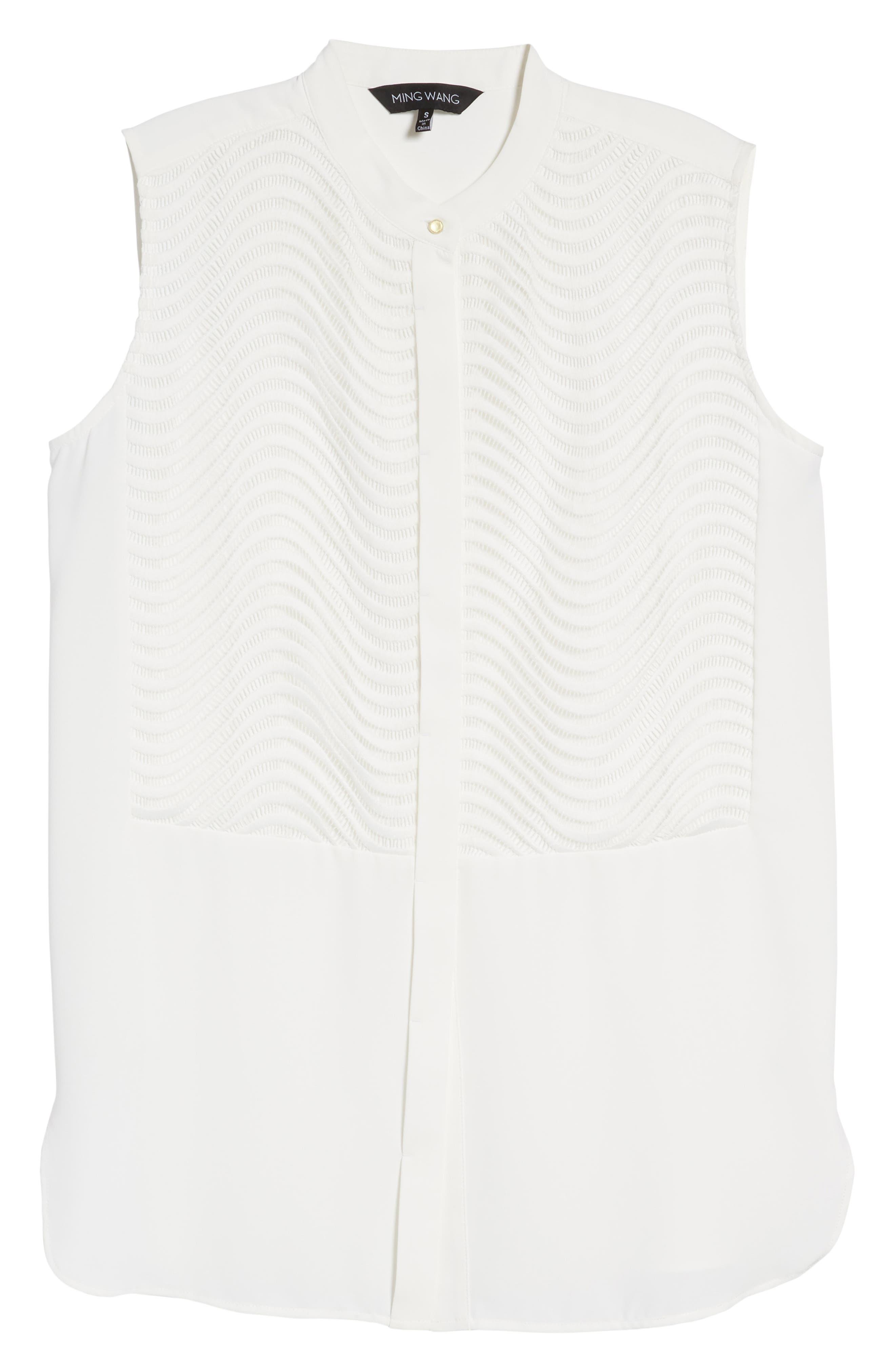 Tunic Blouse,                             Alternate thumbnail 6, color,                             White
