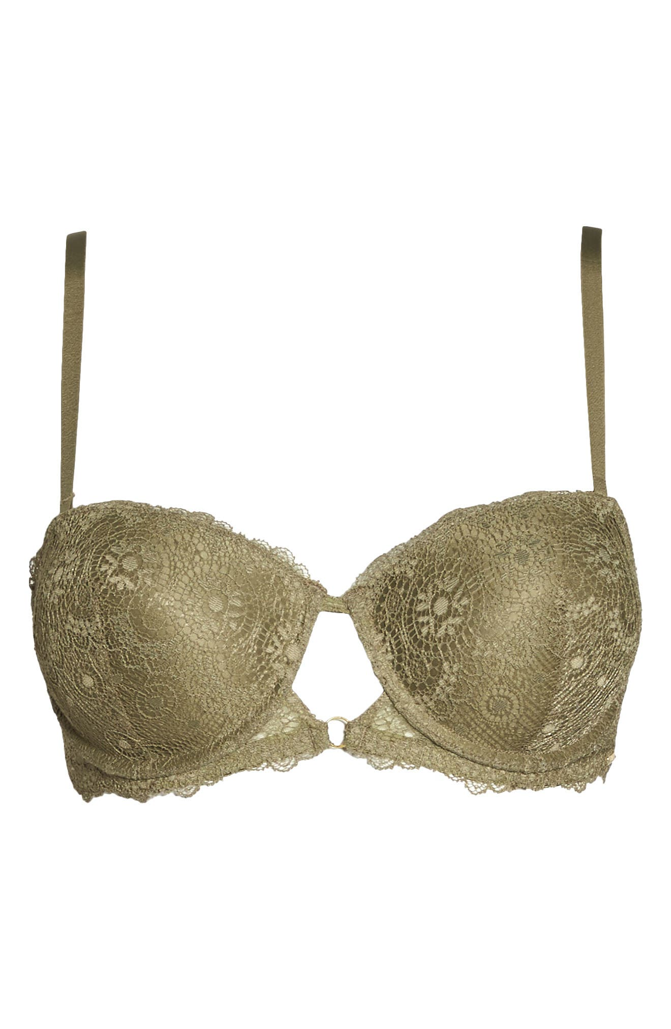 Strapless Underwire Lace Bra,                             Alternate thumbnail 5, color,                             Mermaid