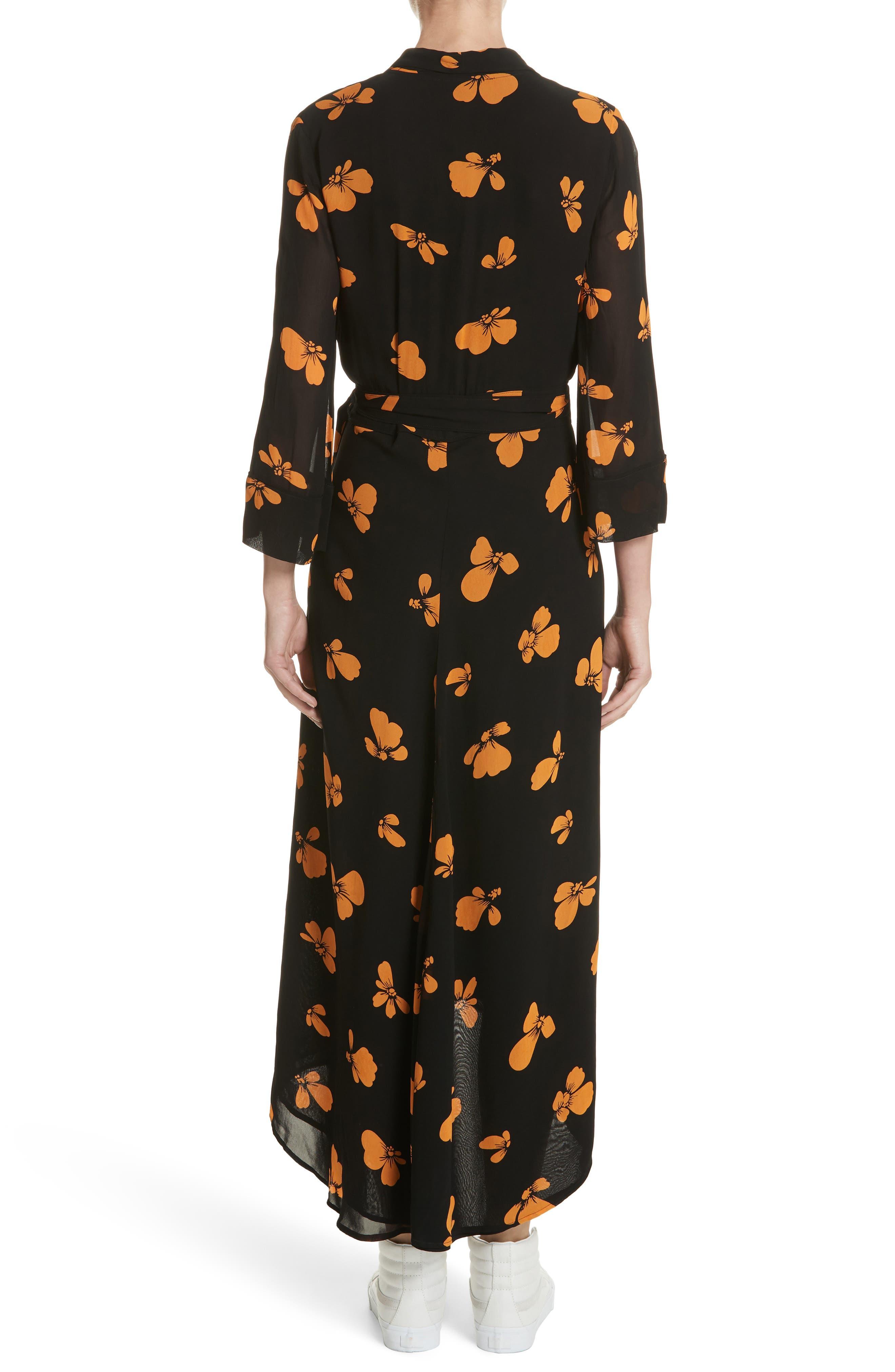 Fairfax Georgette Wrap Dress,                             Alternate thumbnail 2, color,                             Black
