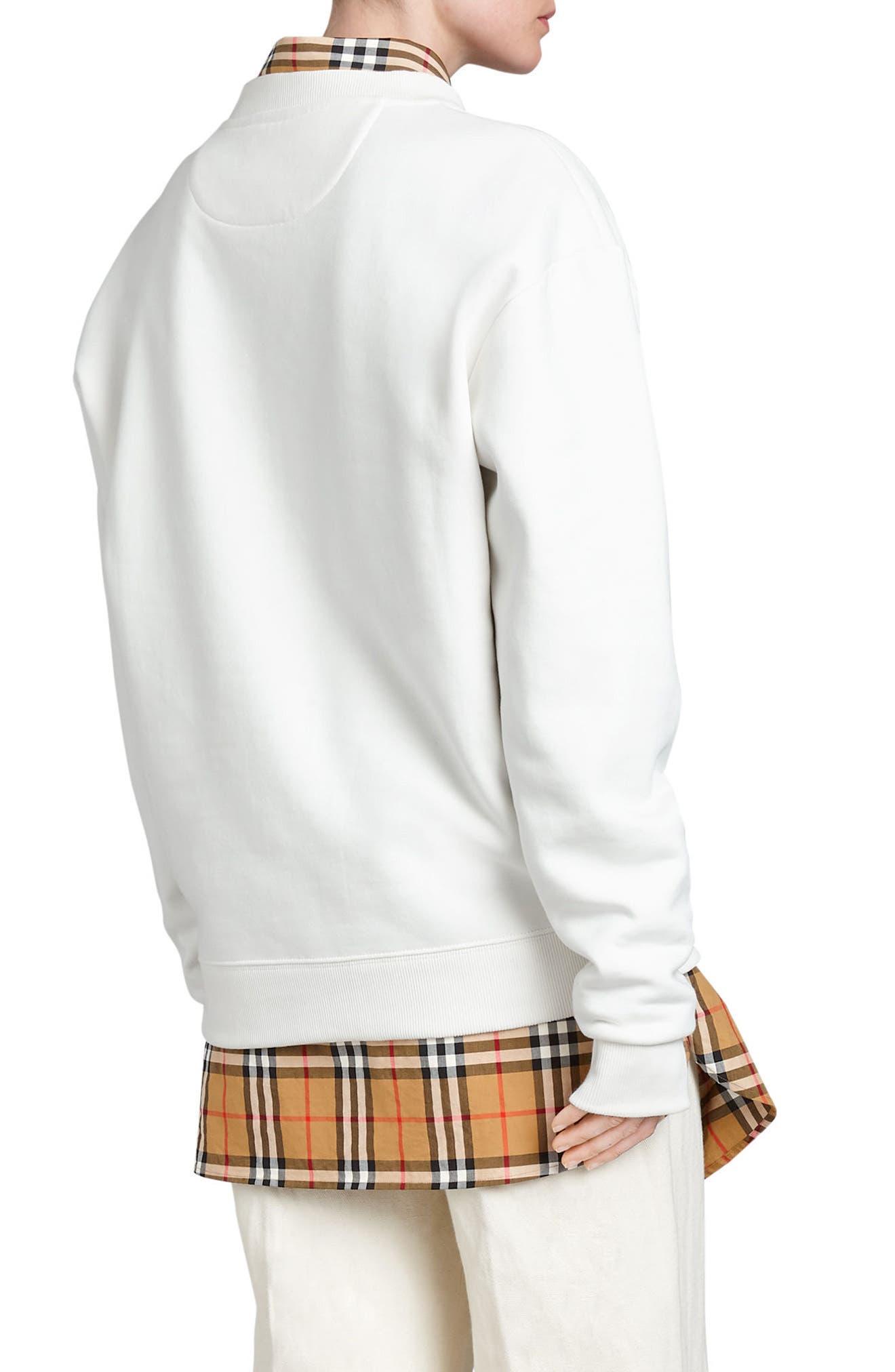 Vintage Crest Sweatshirt,                             Alternate thumbnail 3, color,                             Off White