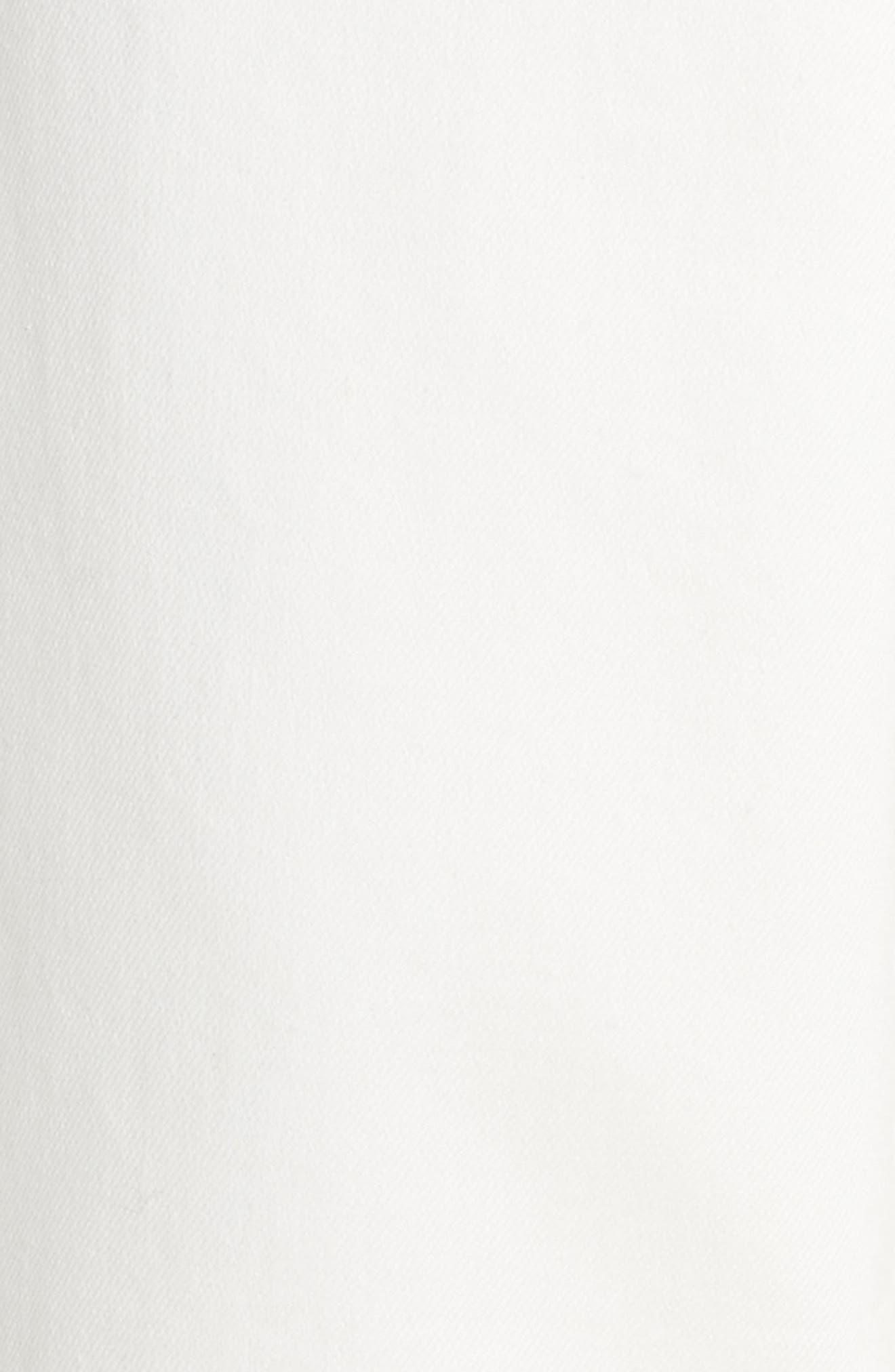 Hampton Crop Denim Jumpsuit,                             Alternate thumbnail 5, color,                             White
