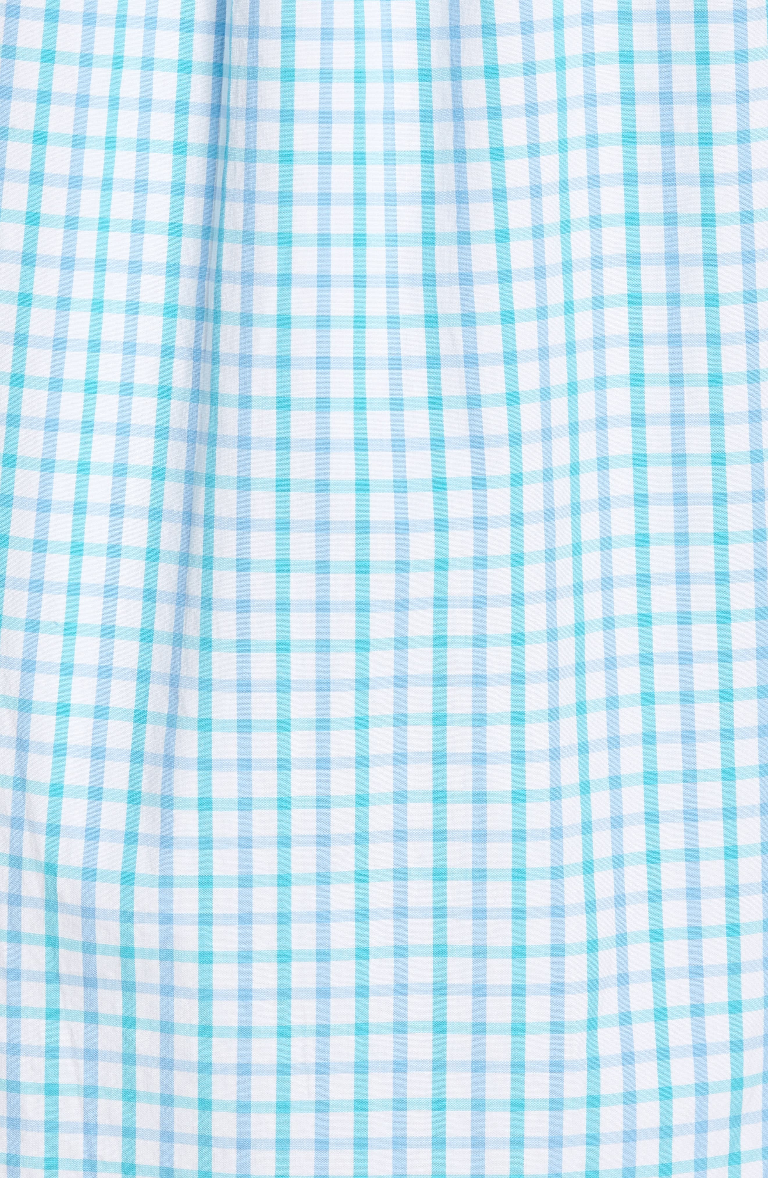 The Marls Classic Fit Stretch Check Sport Shirt,                             Alternate thumbnail 5, color,                             Turquoise