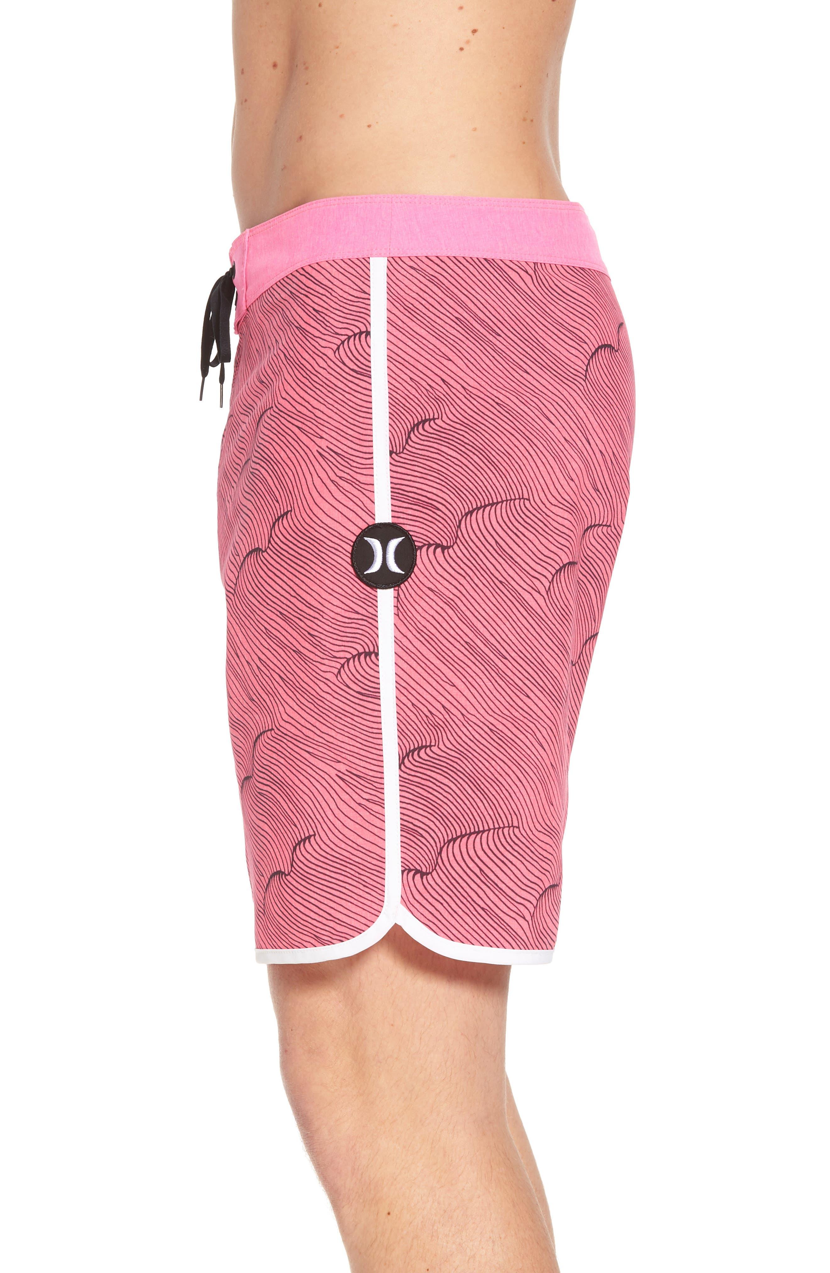 Phantom Thalia Street Board Shorts,                             Alternate thumbnail 4, color,                             Hyper Pink/Black