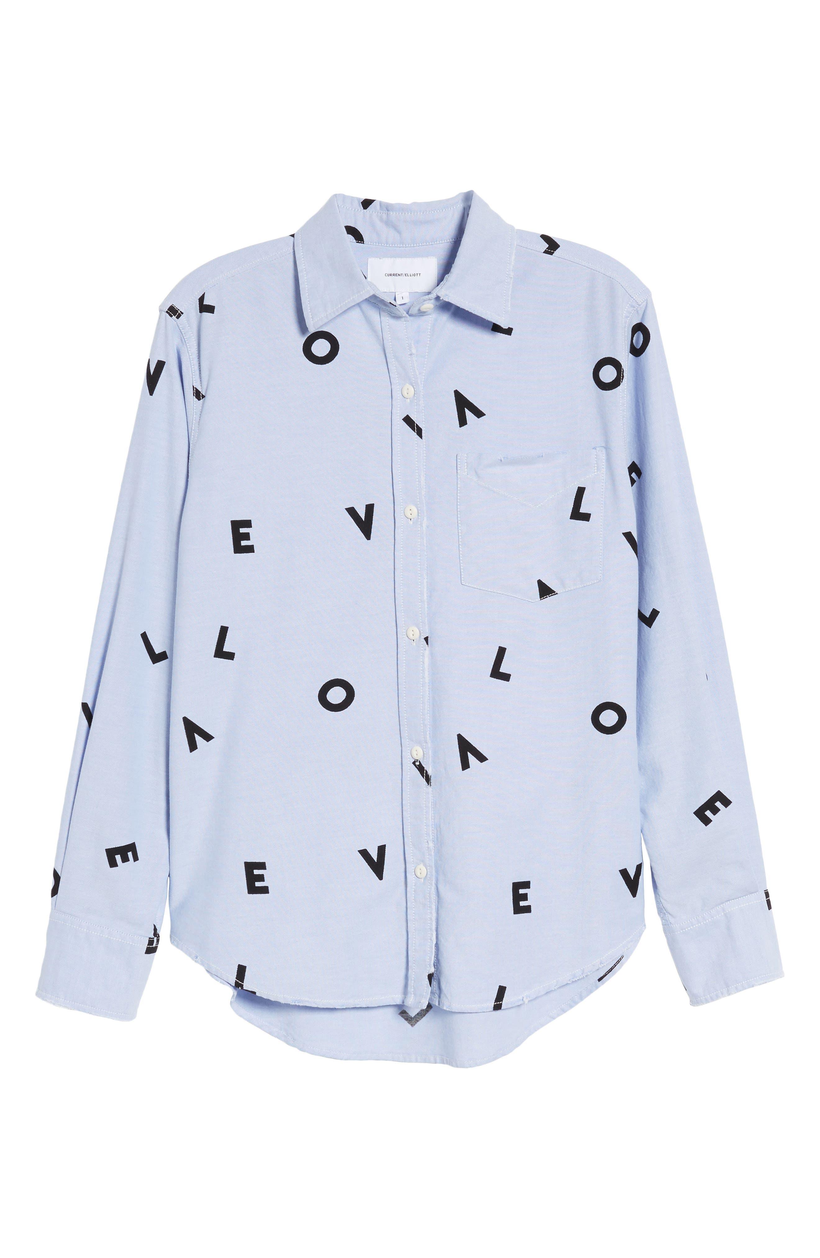 Alternate Image 6  - Current/Elliott The Derby Love Print Shirt