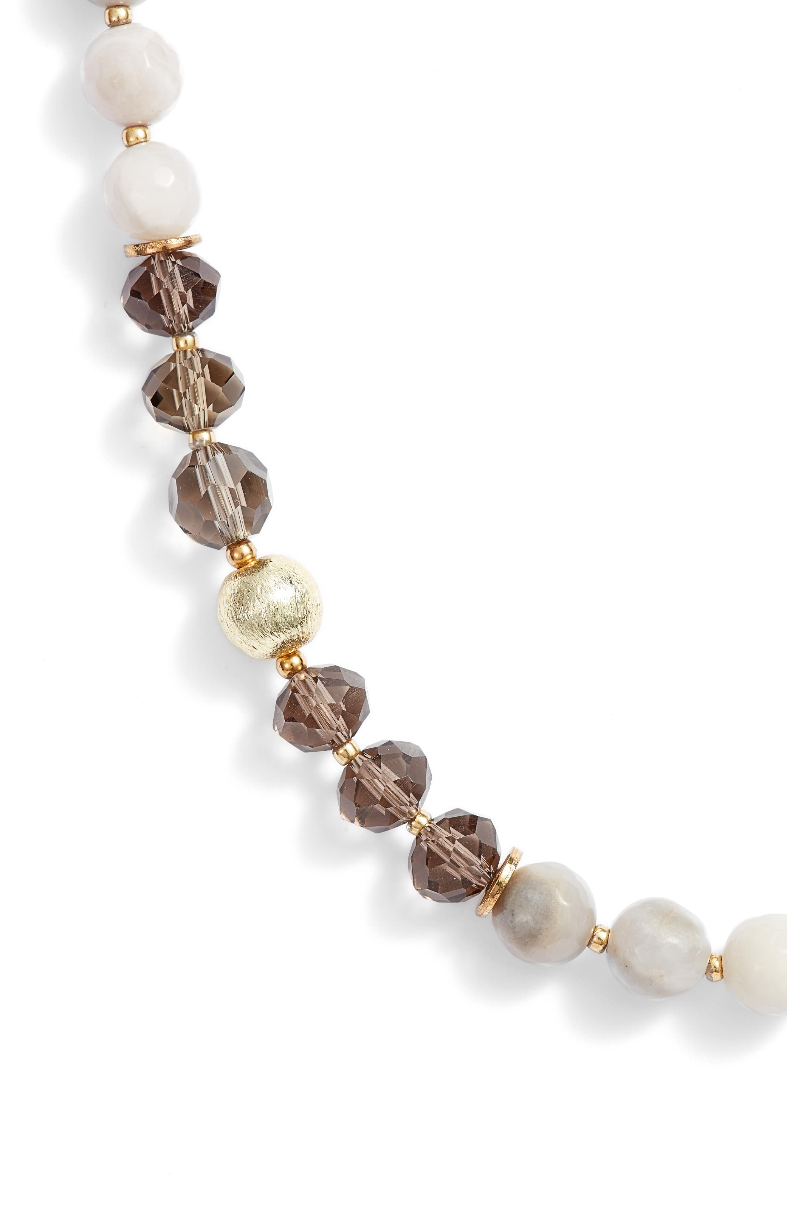 Love's Affect Bailey Semiprecious Stone Necklace,                             Alternate thumbnail 2, color,                             White
