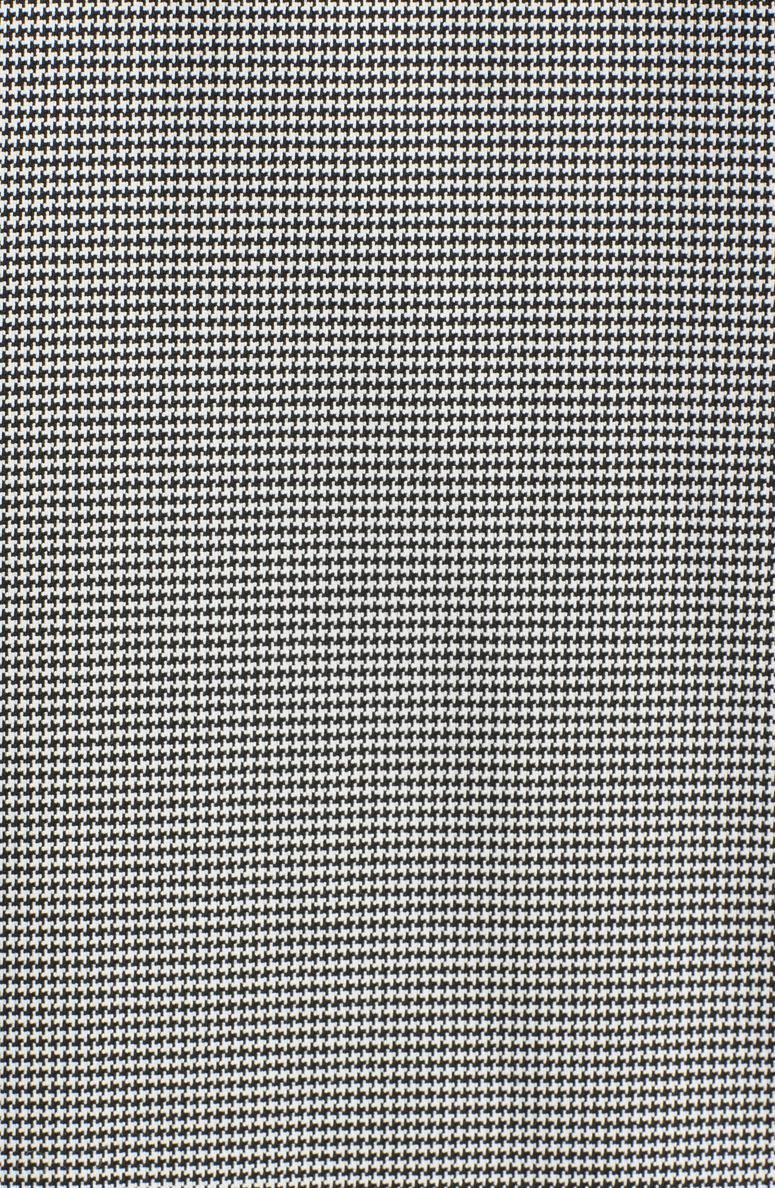 Houndstooth Open Front Jacket,                             Alternate thumbnail 6, color,                             Black- White Houndstooth