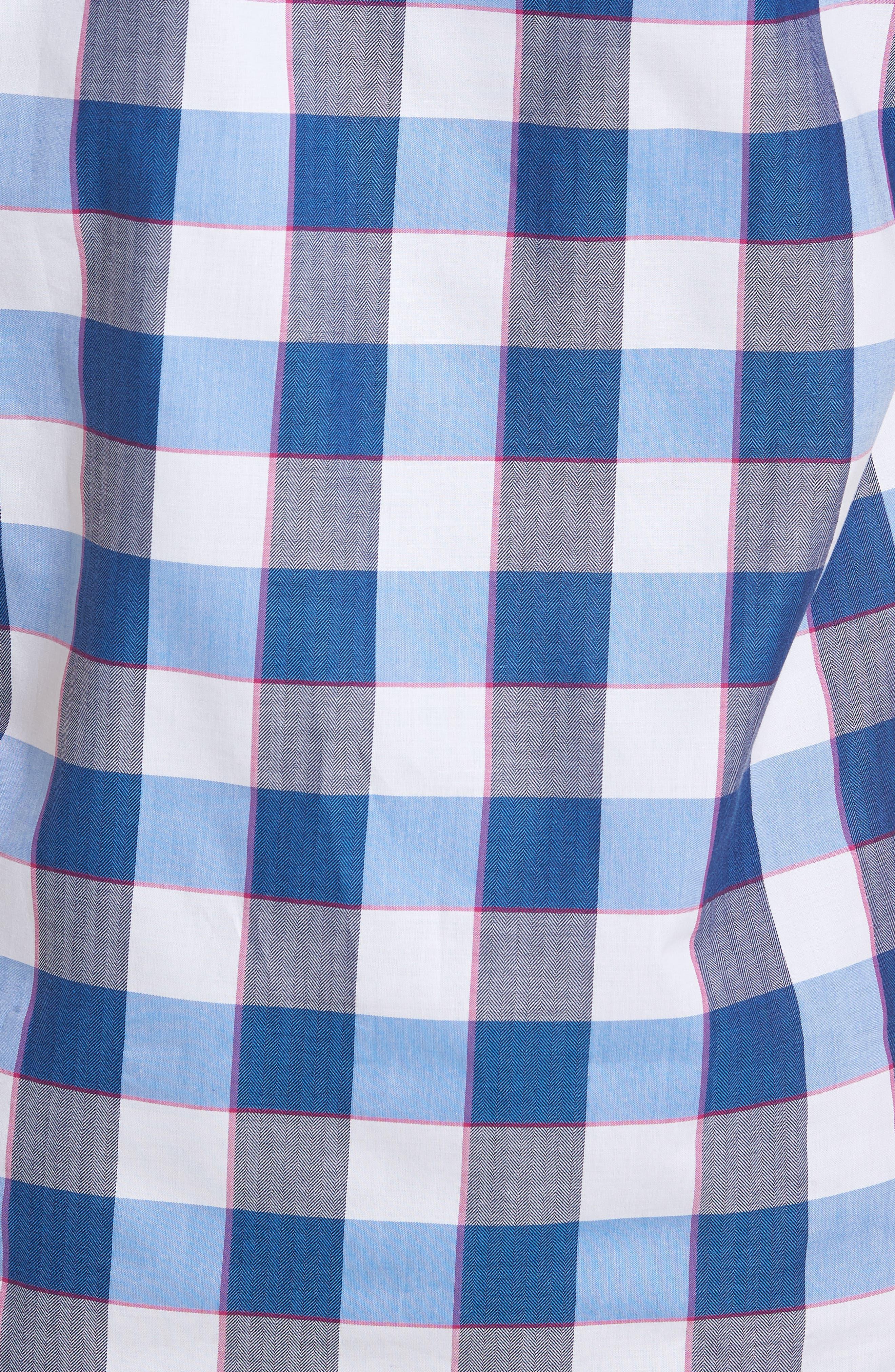 Jeff Regular Fit Check Sport Shirt,                             Alternate thumbnail 5, color,                             Navy