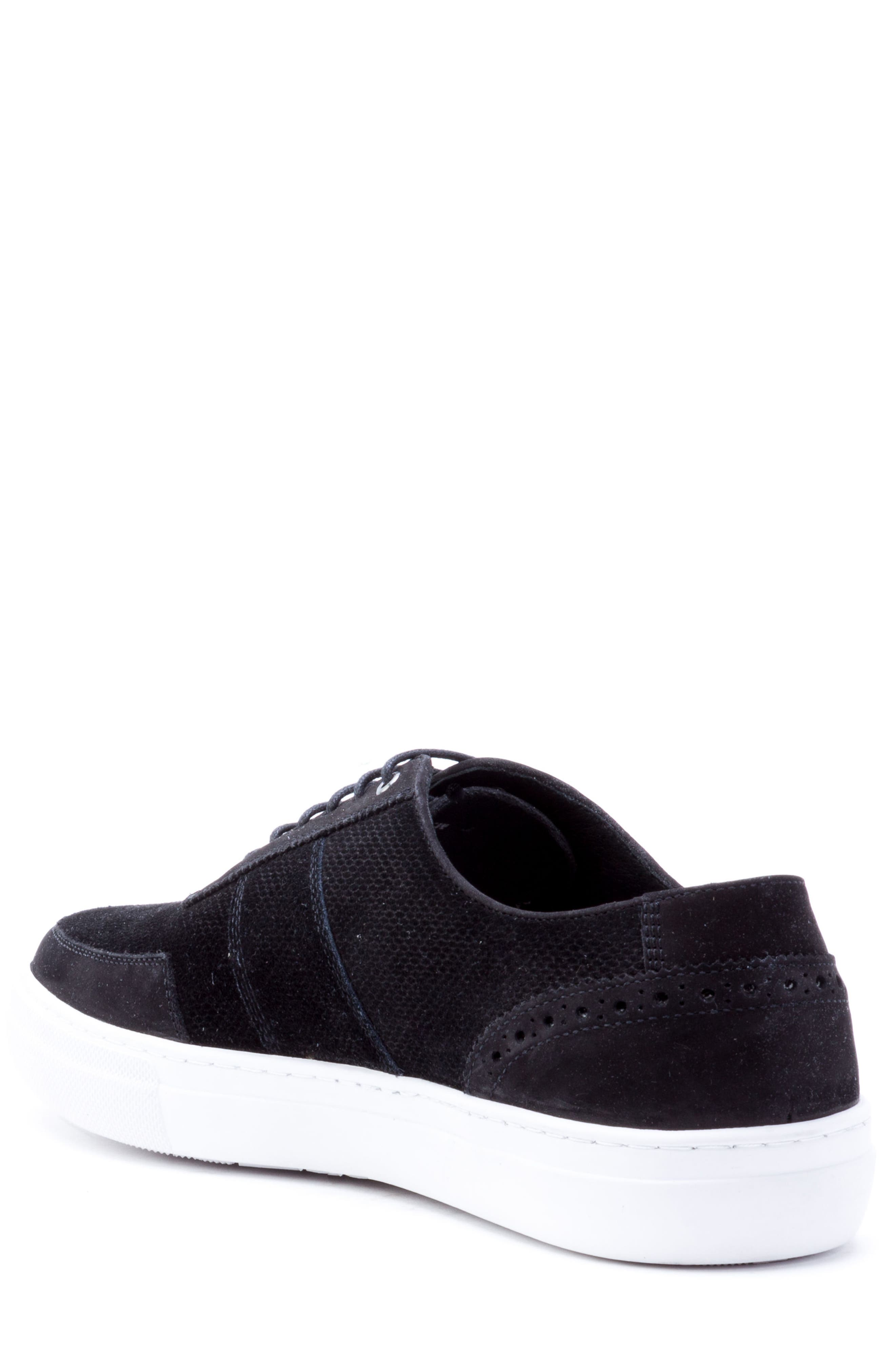 House Low Top Sneaker,                             Alternate thumbnail 2, color,                             Black Suede/ Leather