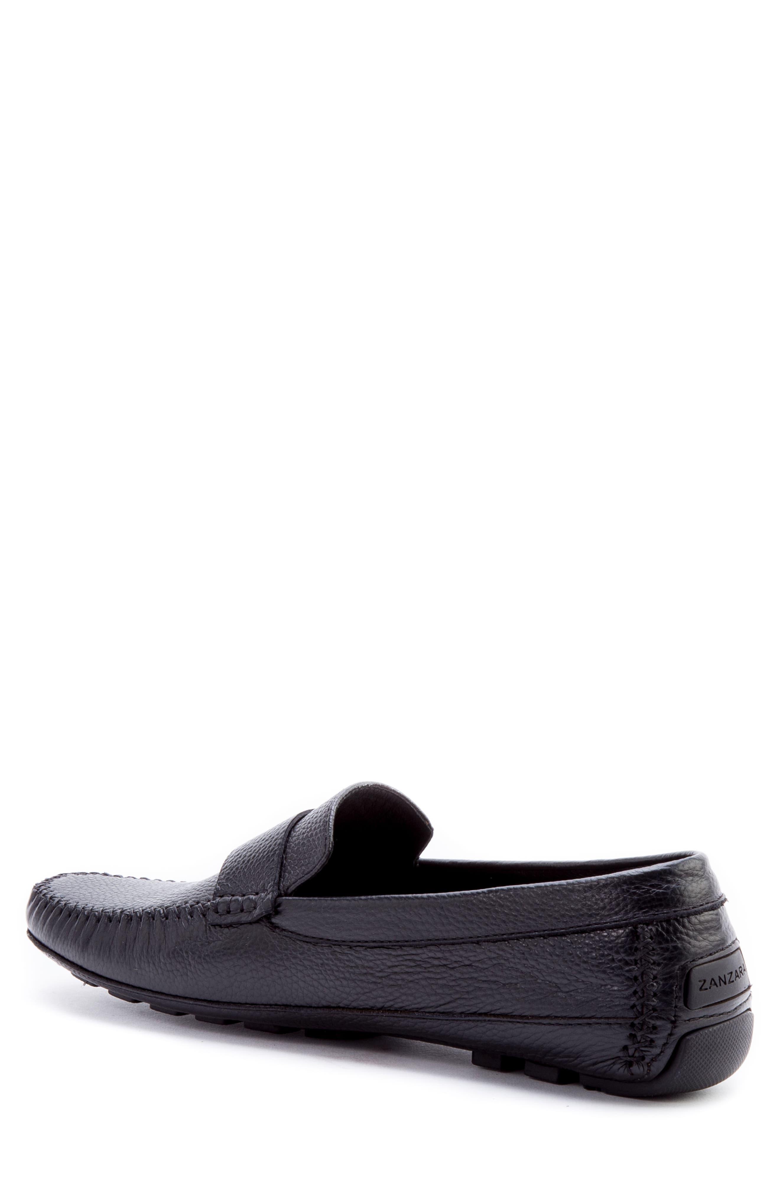 Kandinsky Moc Toe Driving Loafer,                             Alternate thumbnail 2, color,                             Black Leather