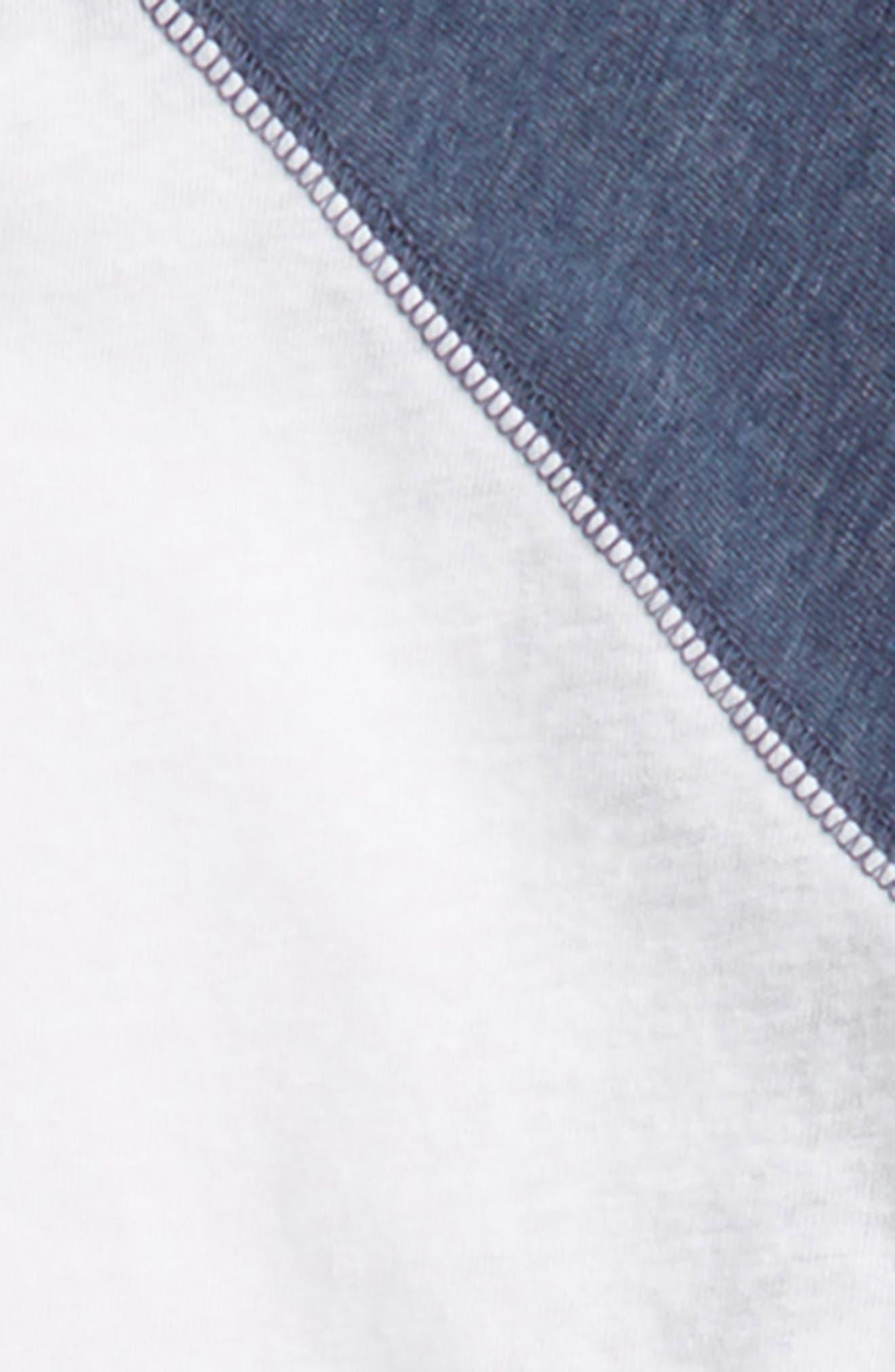 Baseball T-Shirt,                             Alternate thumbnail 2, color,                             White- Navy