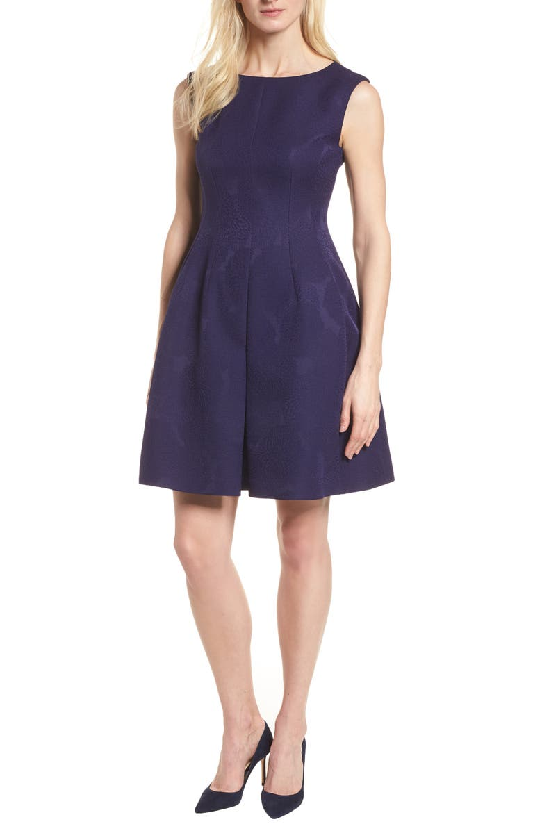Jacquard Fit  Flare Dress