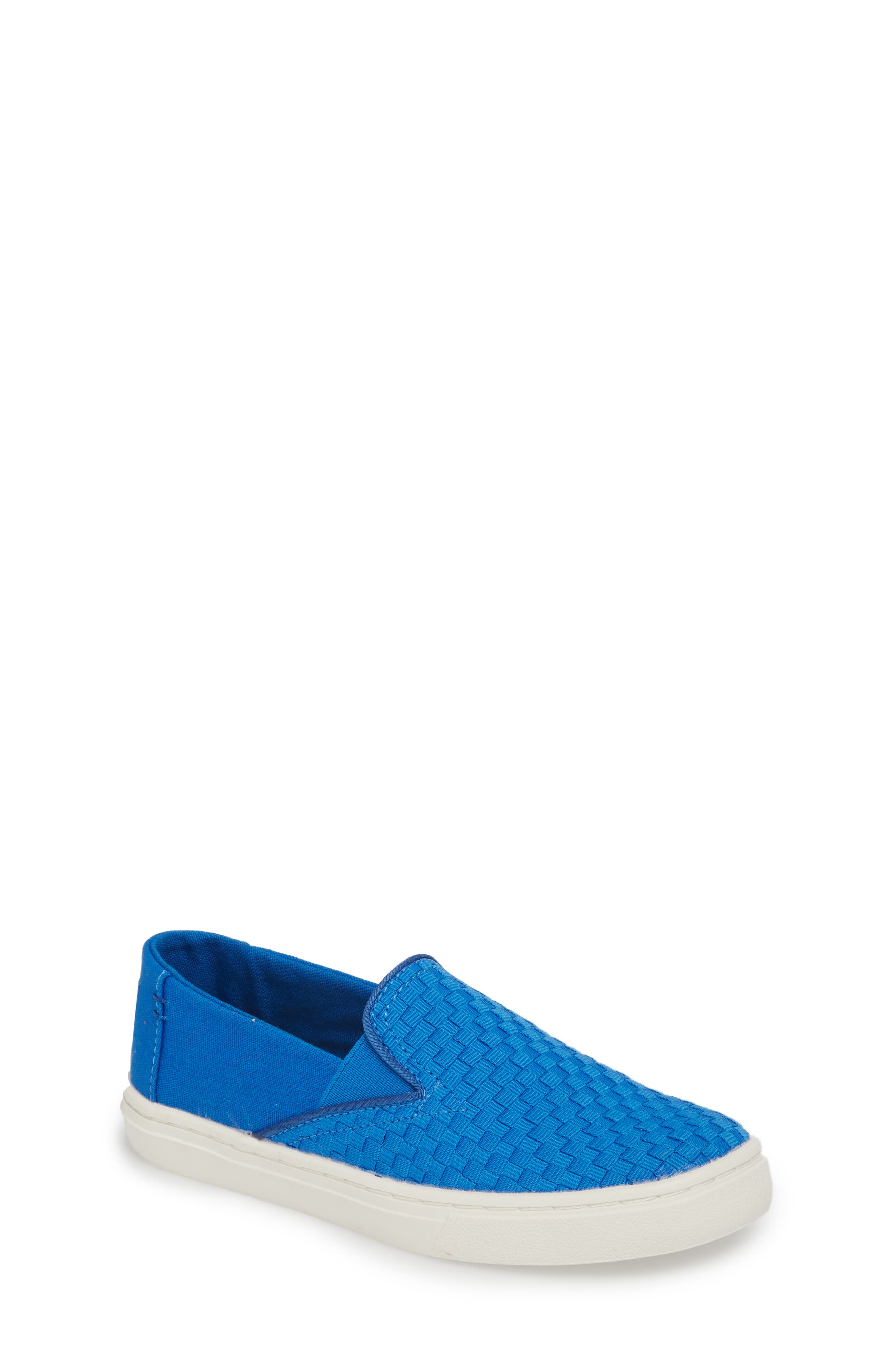Luca Slip-On Sneaker,                             Main thumbnail 1, color,                             Imperial Blue Basketweave