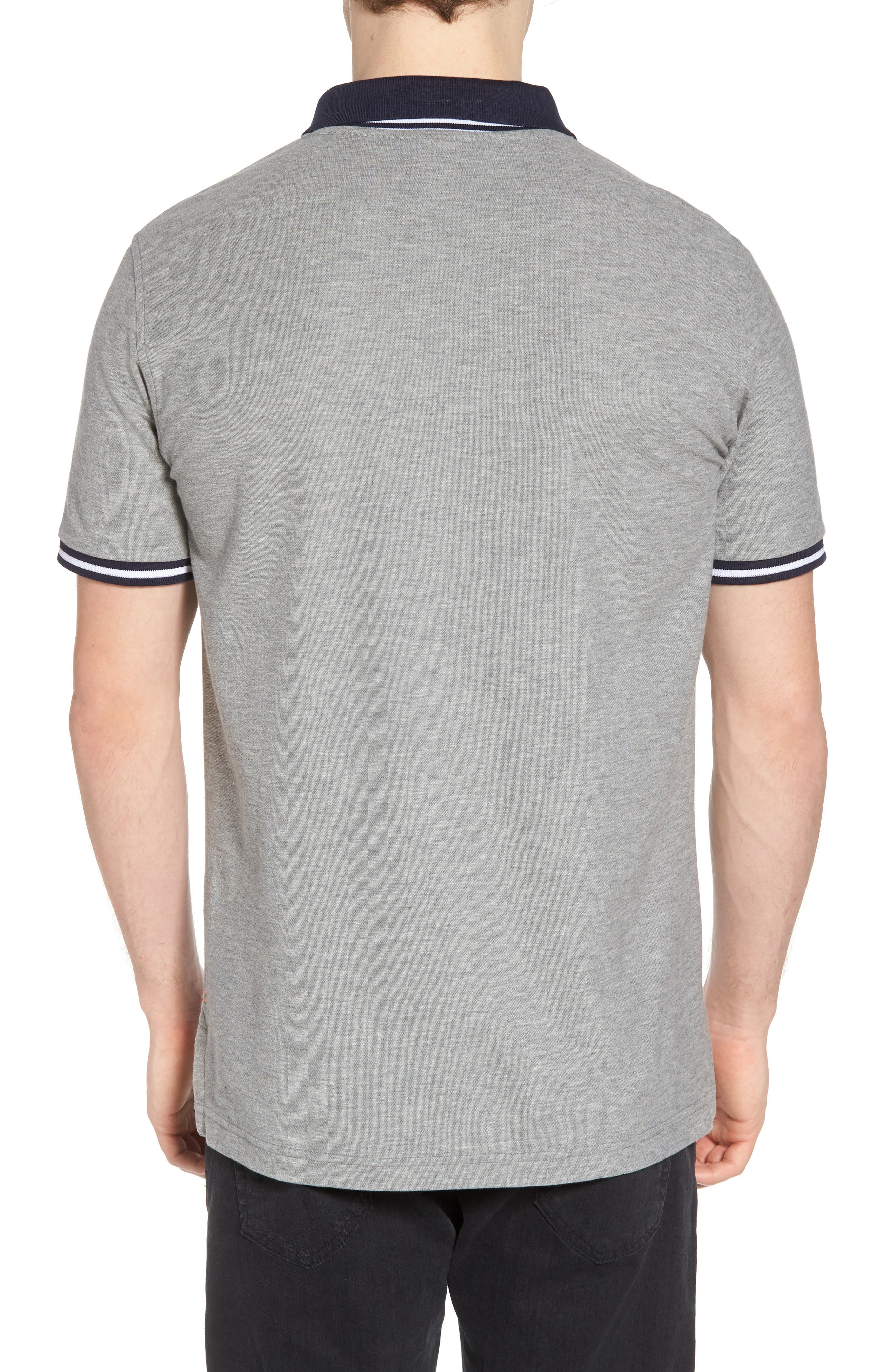 St. Ives Polo,                             Alternate thumbnail 2, color,                             Heather Grey