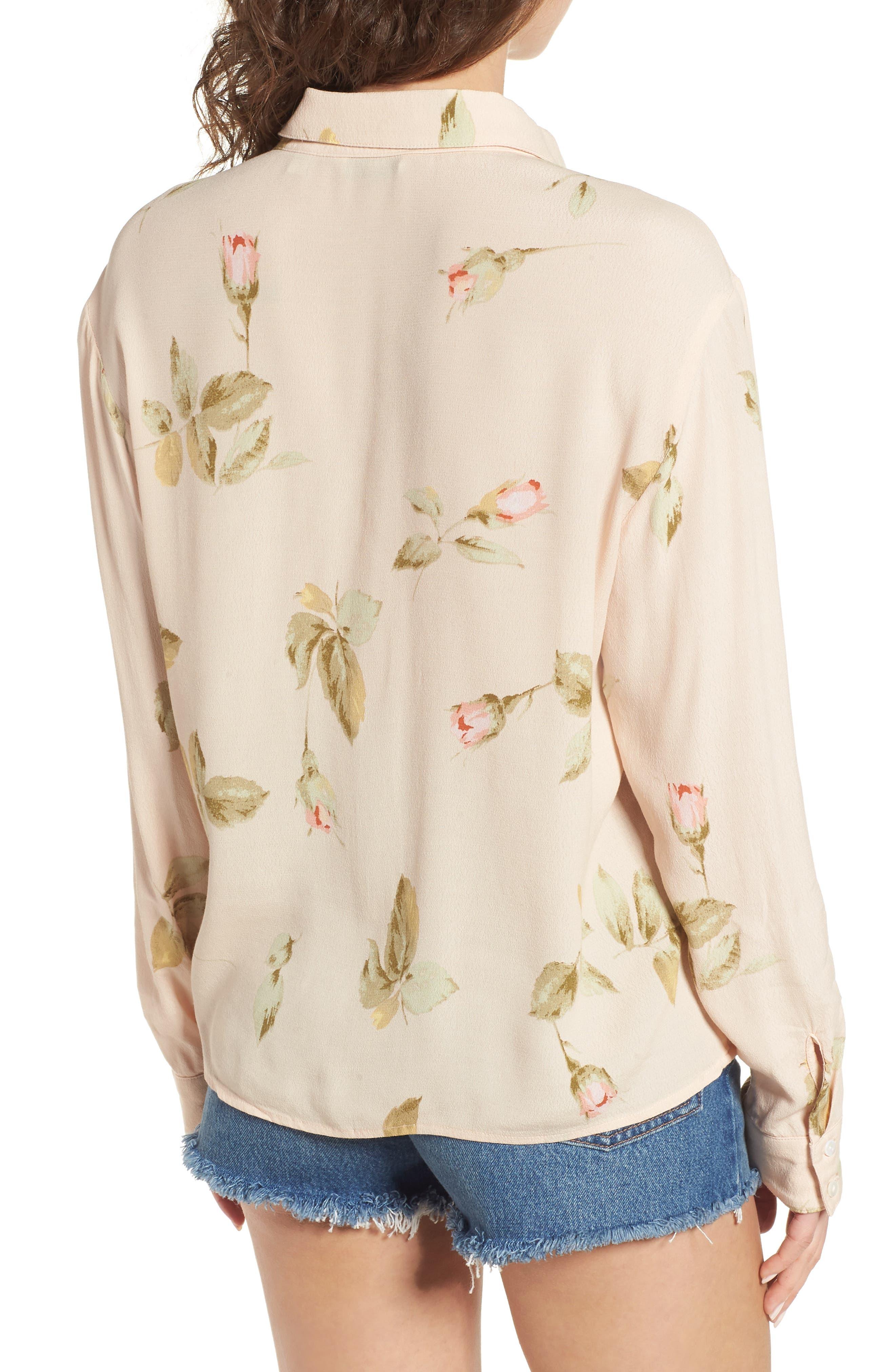 Sinclair Floral Print Shirt,                             Alternate thumbnail 2, color,                             Taupe Multi