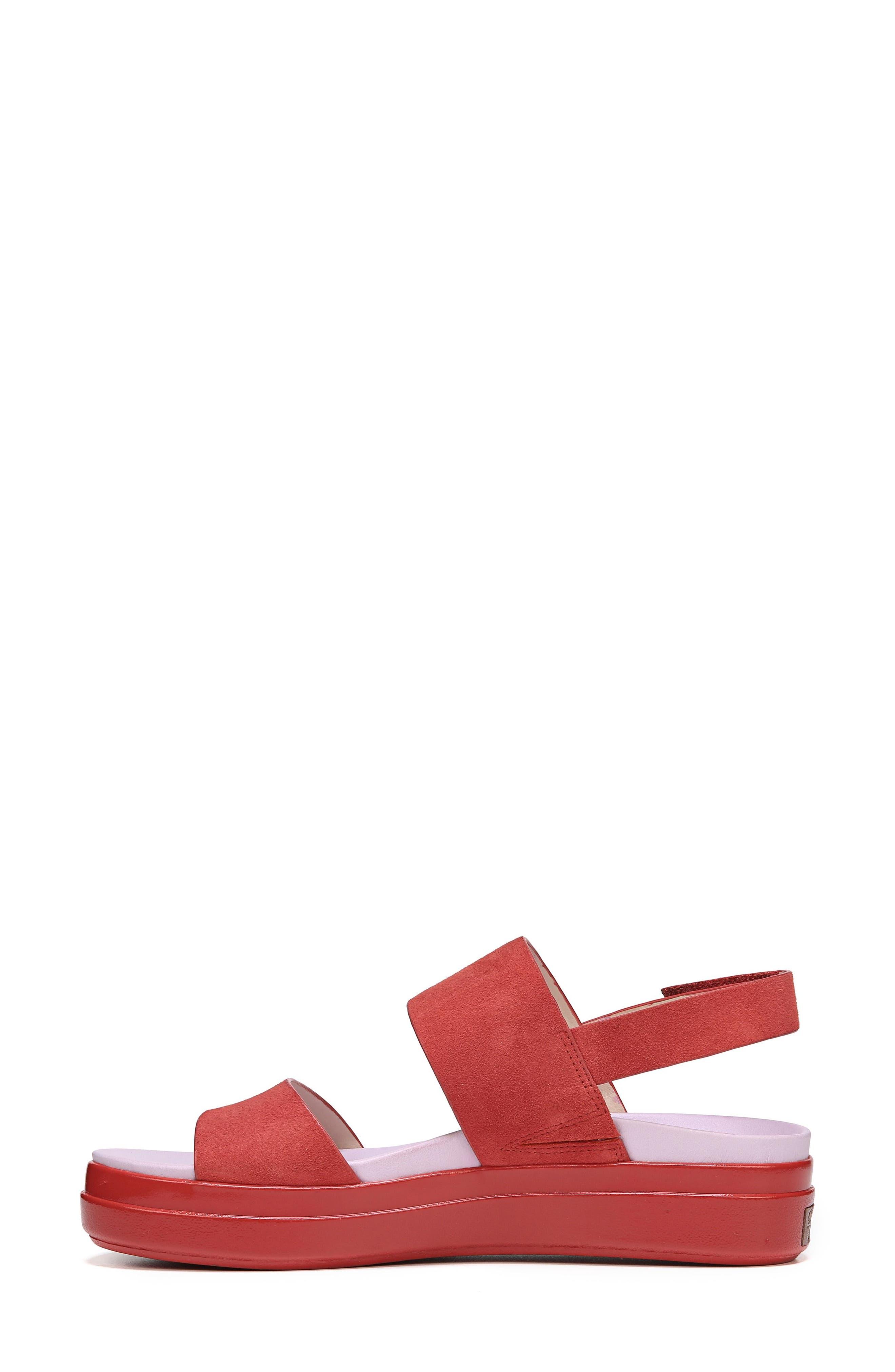 Scout Platform Sandal,                             Alternate thumbnail 3, color,                             Paprika Suede