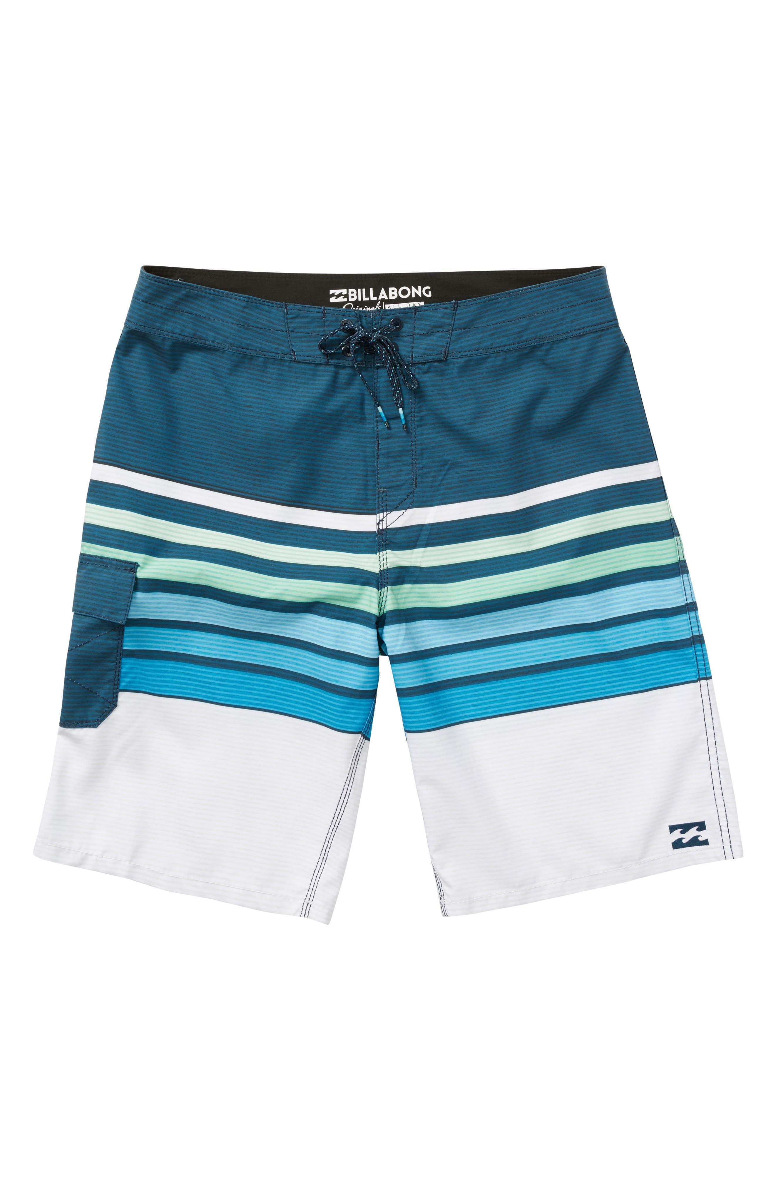 All Day OG Stripe Board Shorts,                             Alternate thumbnail 3, color,                             Blue