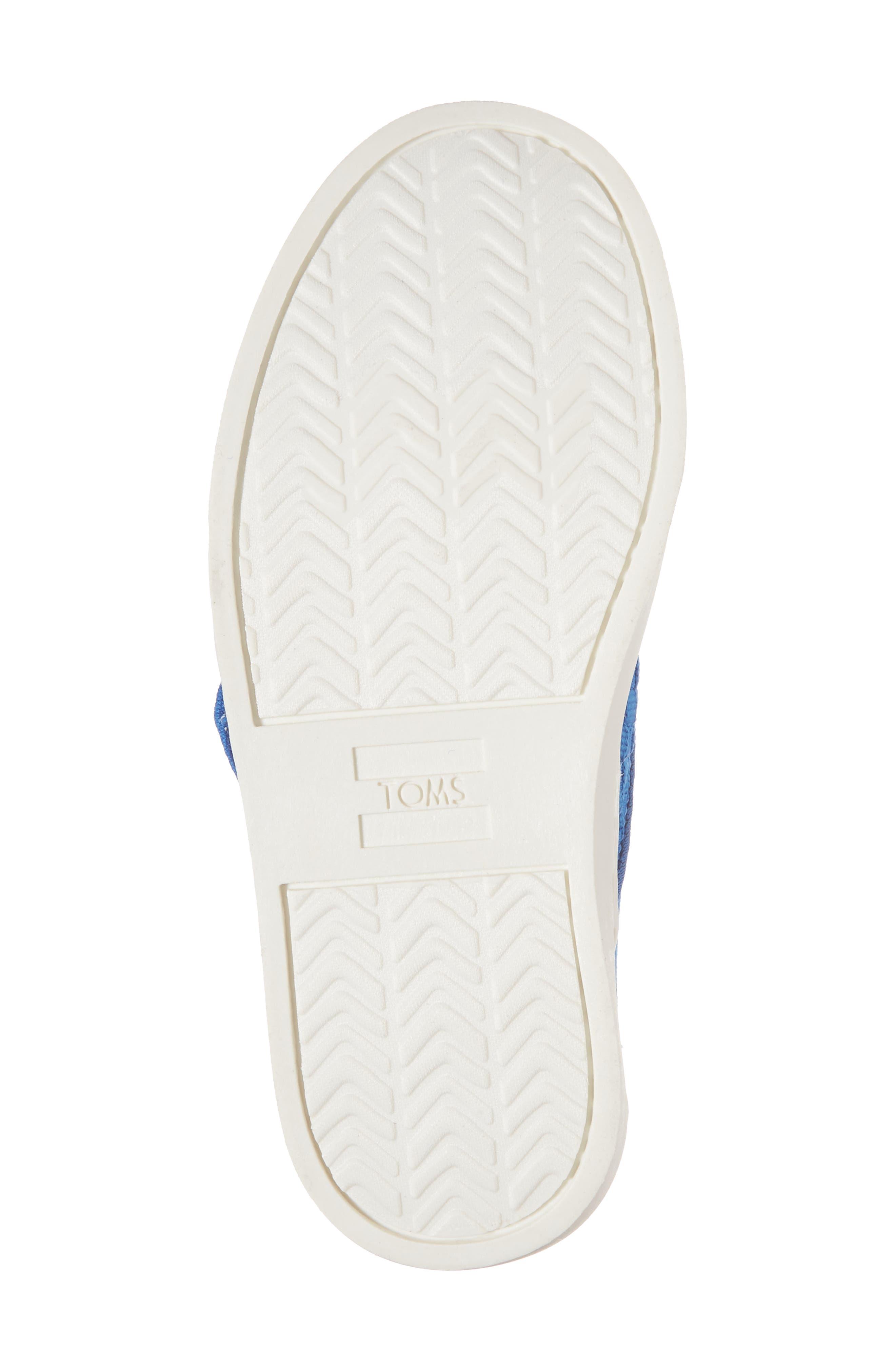 Luca Slip-On Sneaker,                             Alternate thumbnail 6, color,                             Imperial Blue Basketweave