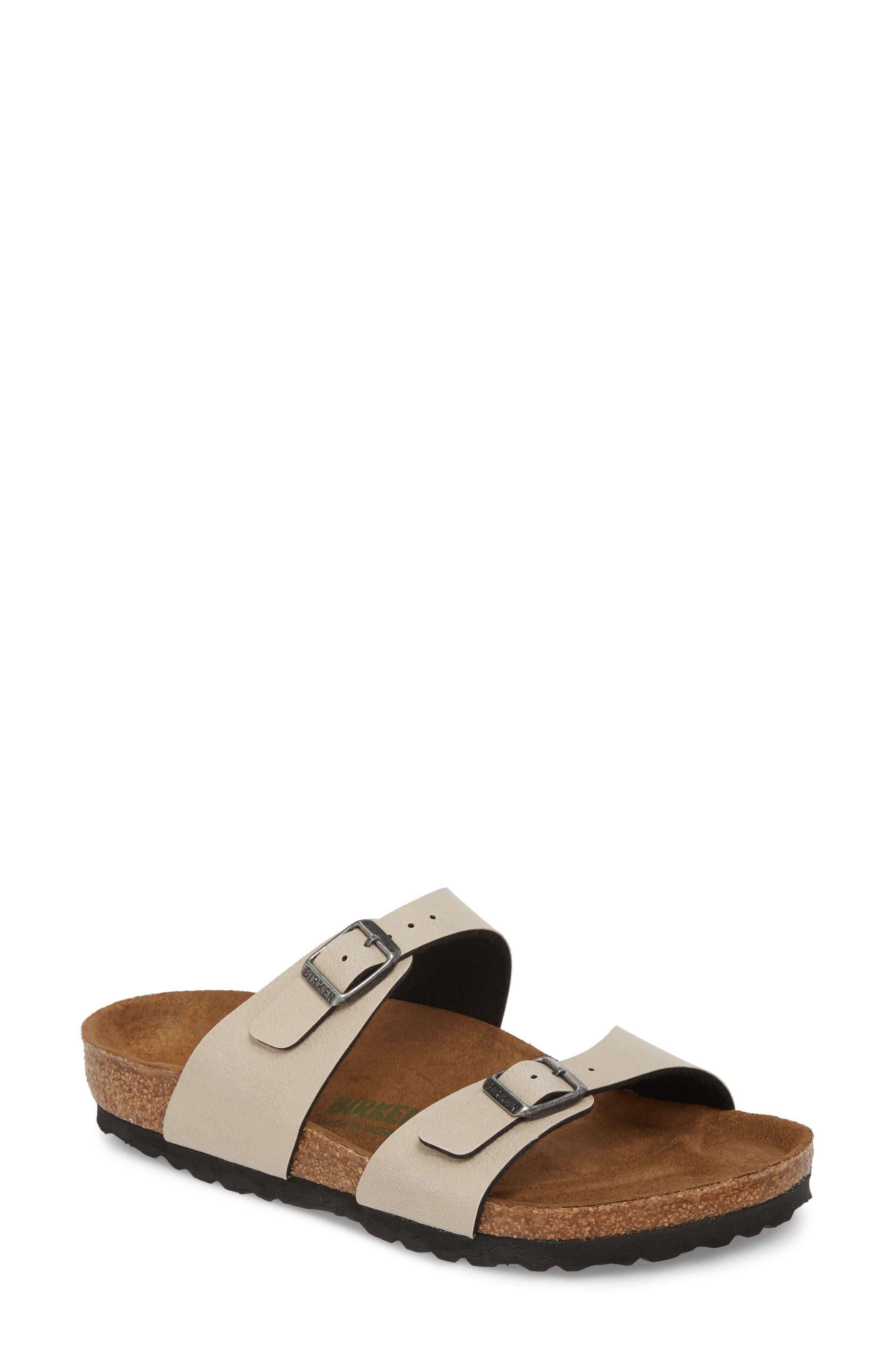 'Sydney' Sandal,                             Main thumbnail 1, color,                             Stone Leather