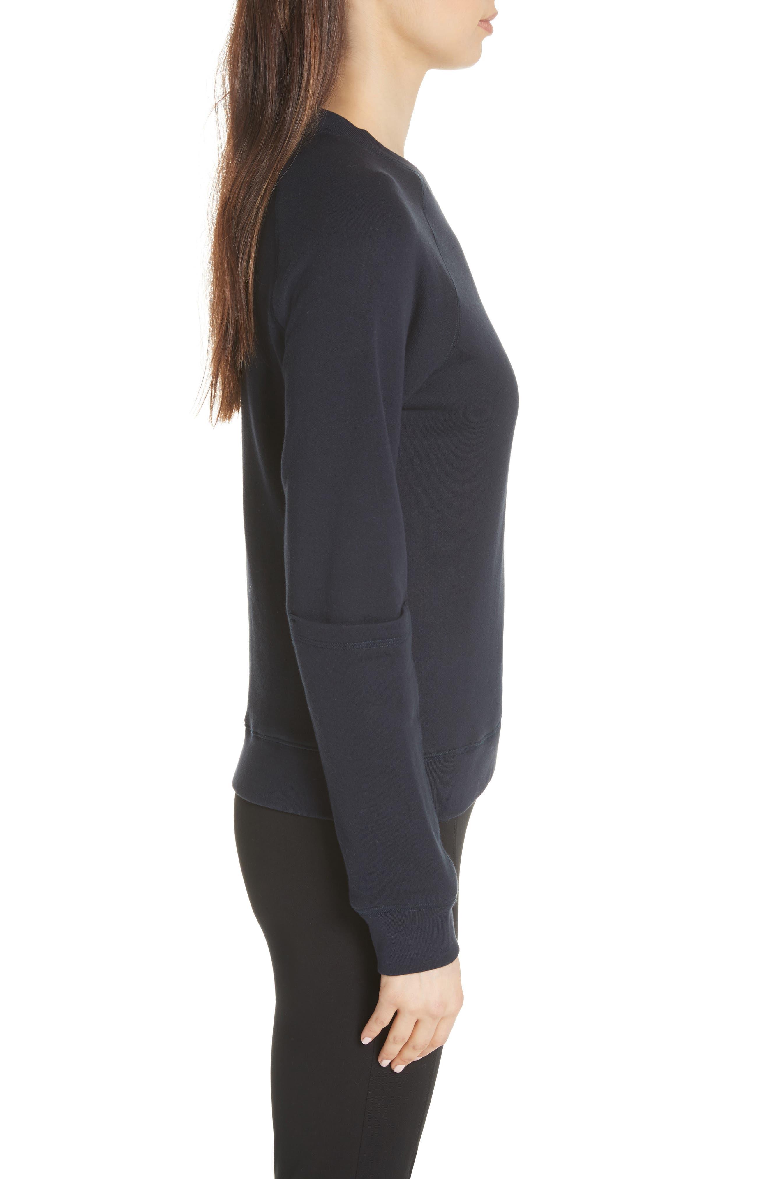 Pocket Sleeve Sweatshirt,                             Alternate thumbnail 3, color,                             Navy