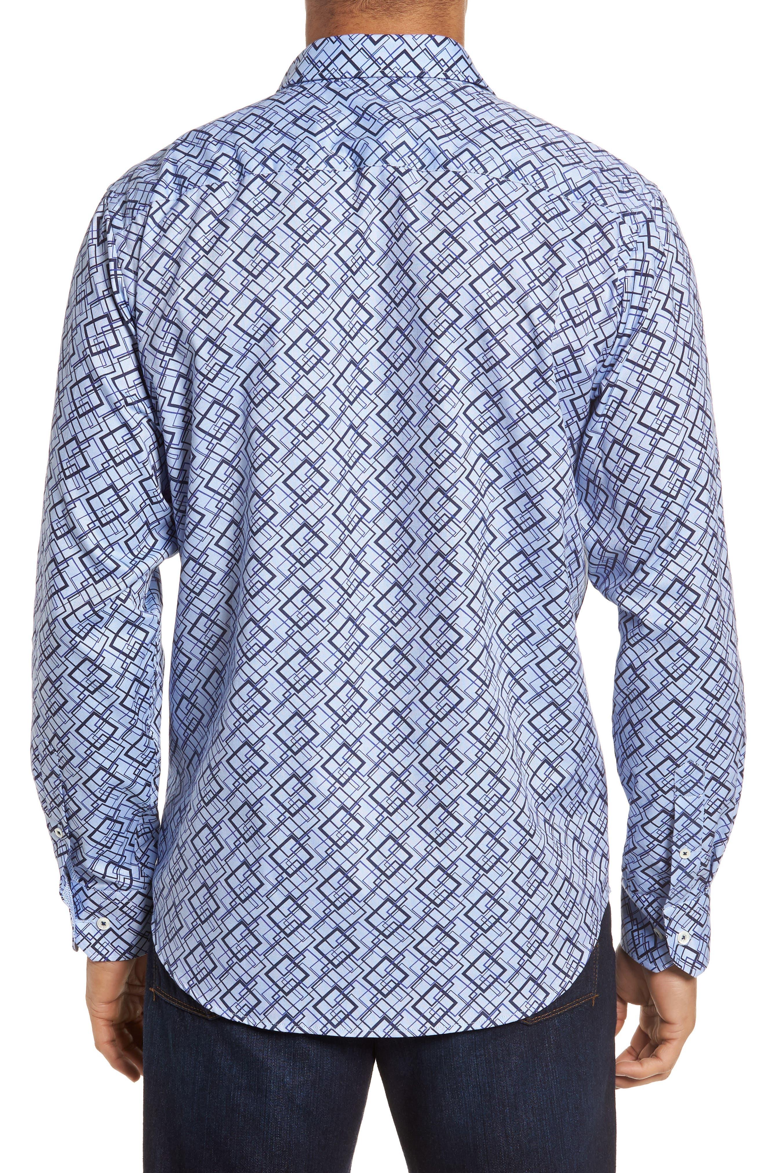 Classic Fit Woven Sport Shirt,                             Alternate thumbnail 2, color,                             Classic Blue