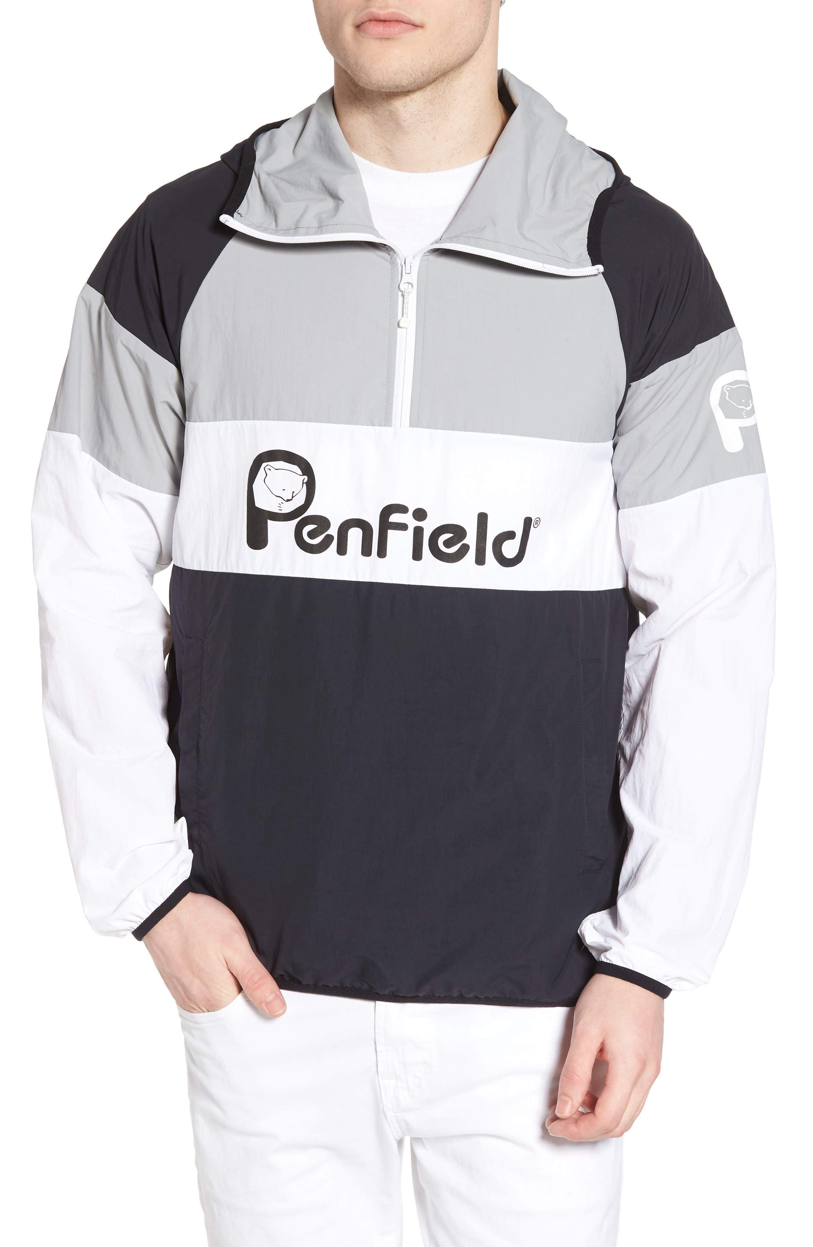 Block Pullover Jacket,                         Main,                         color, Black