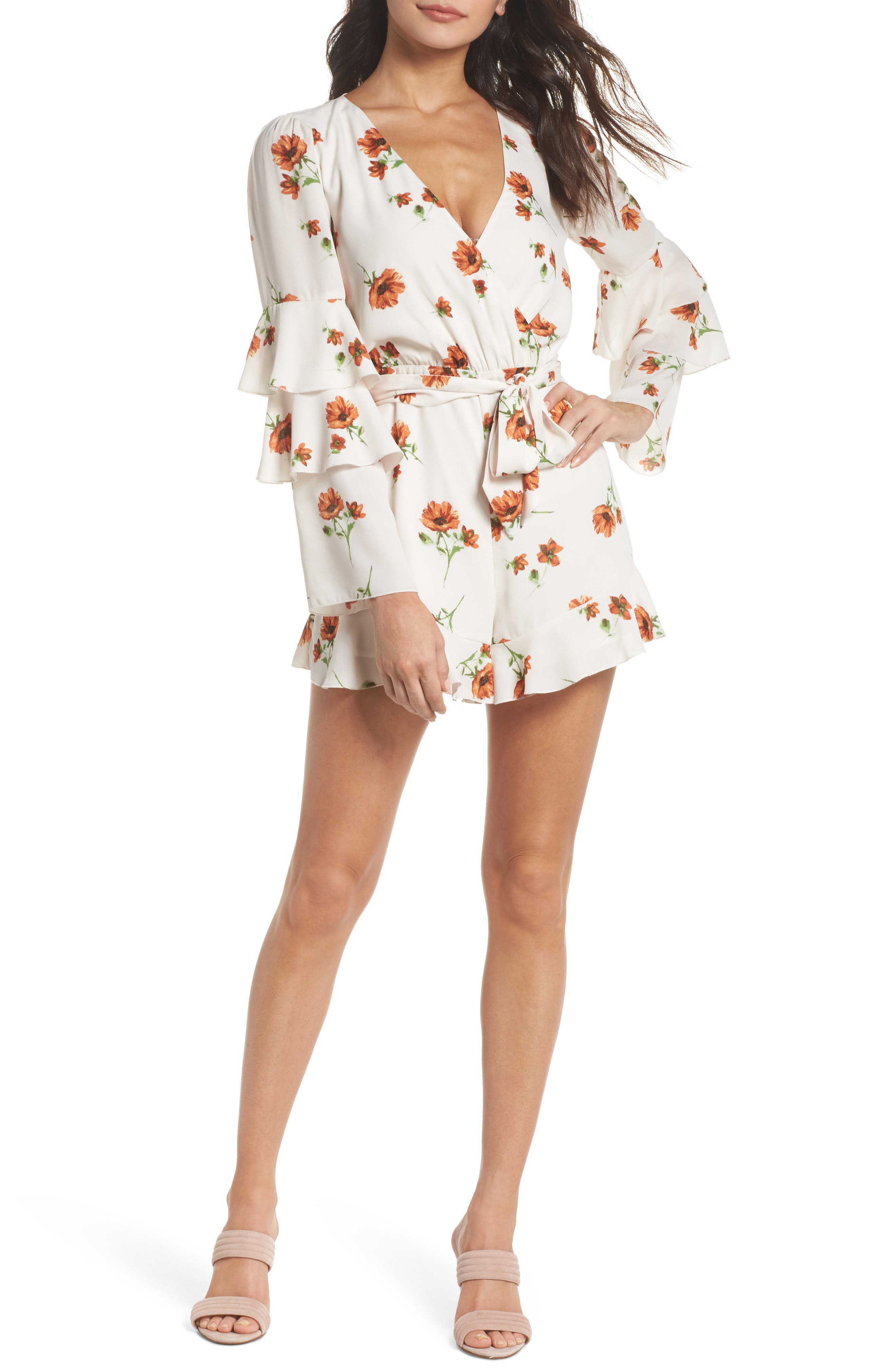 Alternate Image 1 Selected - Ali & Jay Silverlake Floral Ruffle Romper