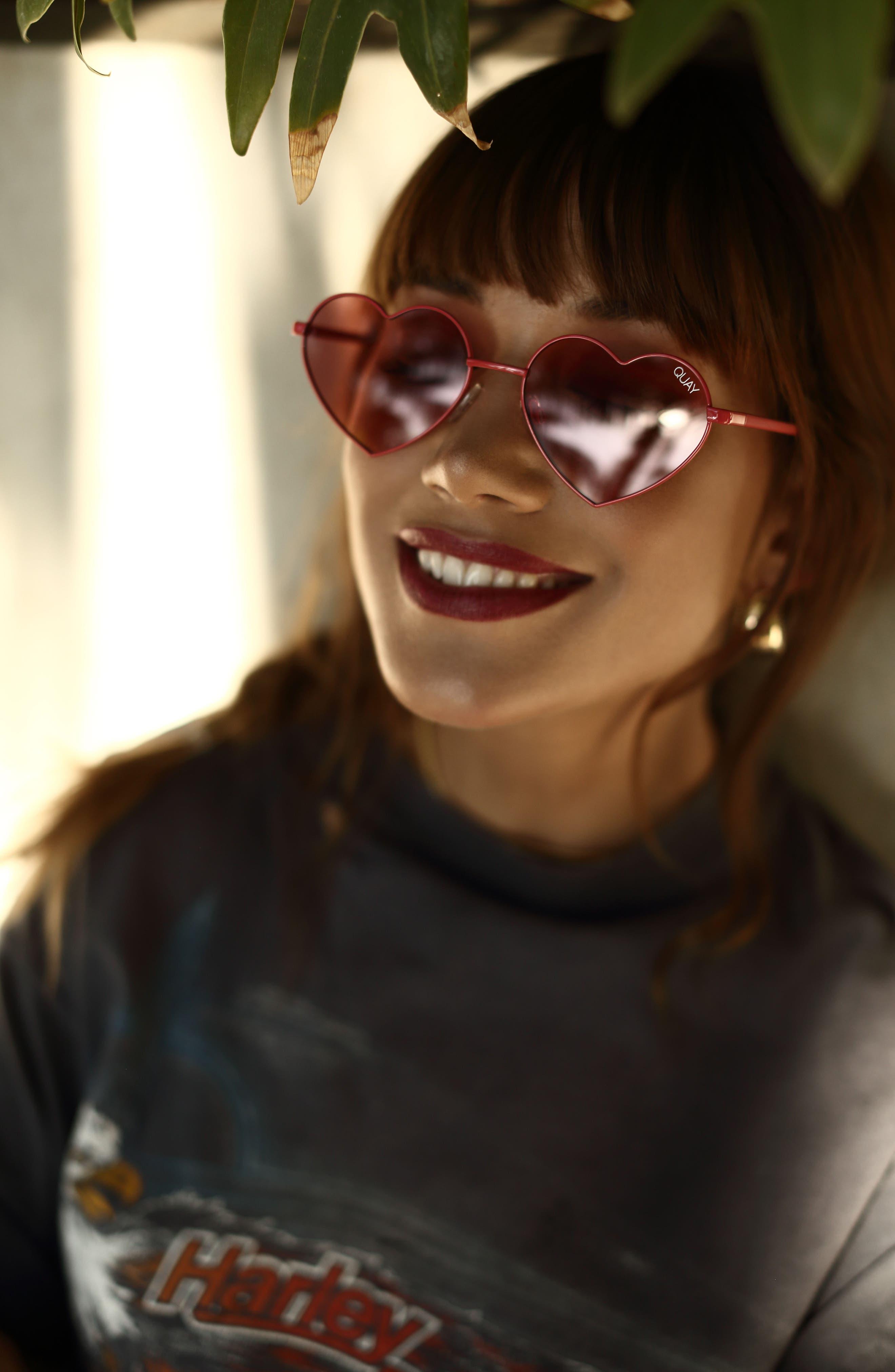 Alternate Image 2  - Quay Australia 53mm Heart Breaker Heart-Shaped Sunglasses
