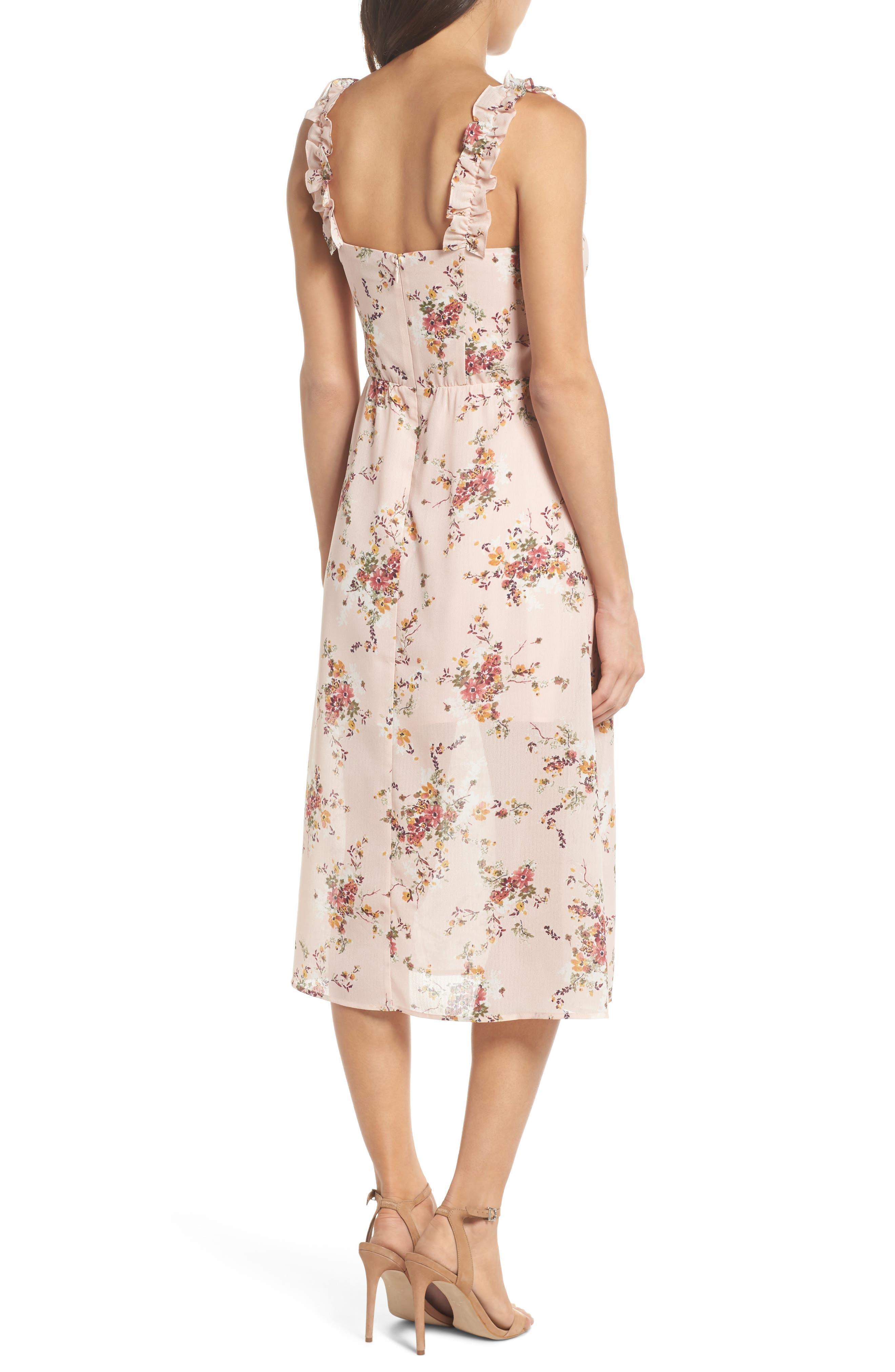 Atwater Village Midi Dress,                             Alternate thumbnail 2, color,                             Blush Vintage Bouquet