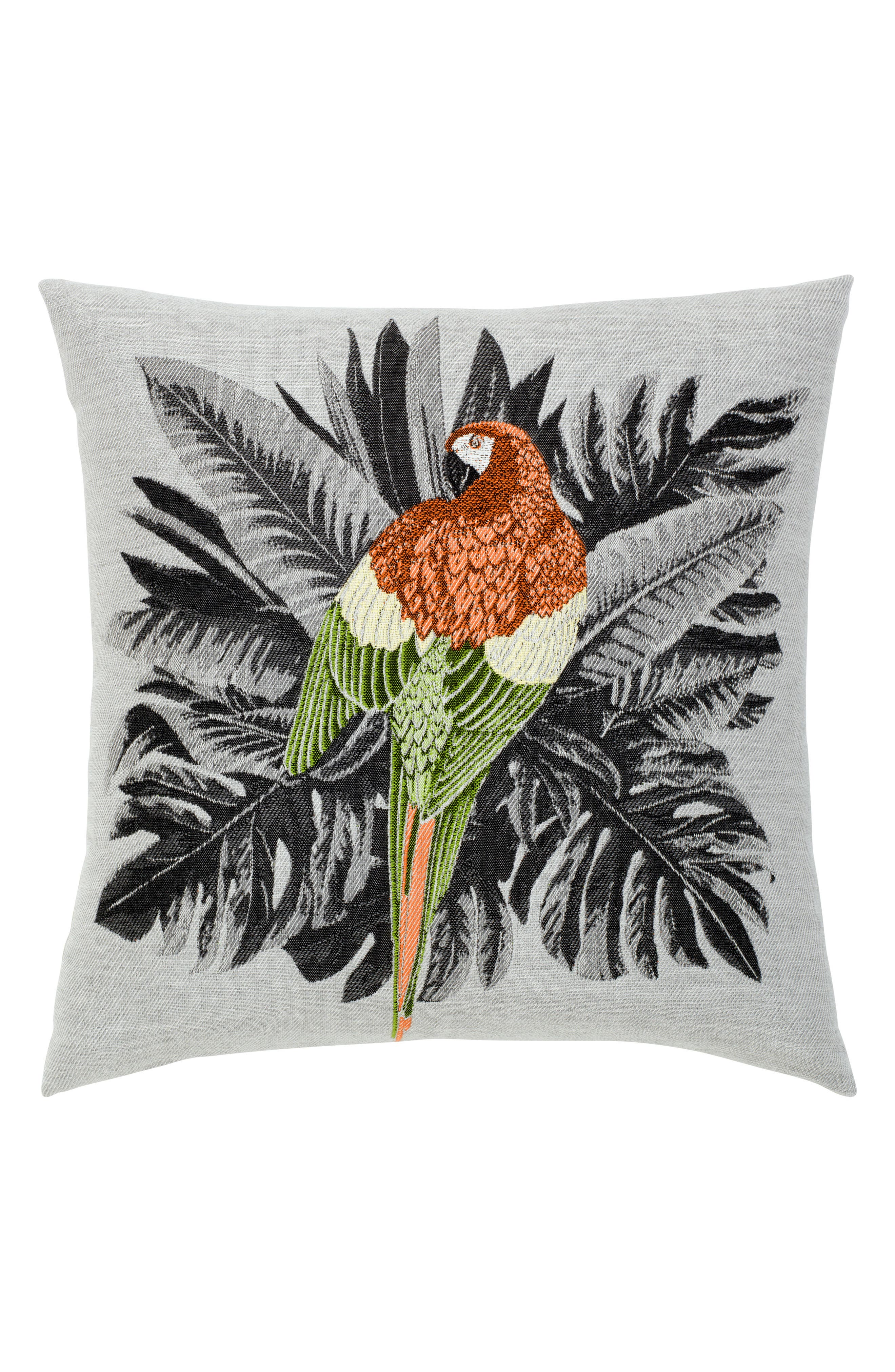 Macaw Indoor/Outdoor Accent Pillow,                         Main,                         color, Grey Multi