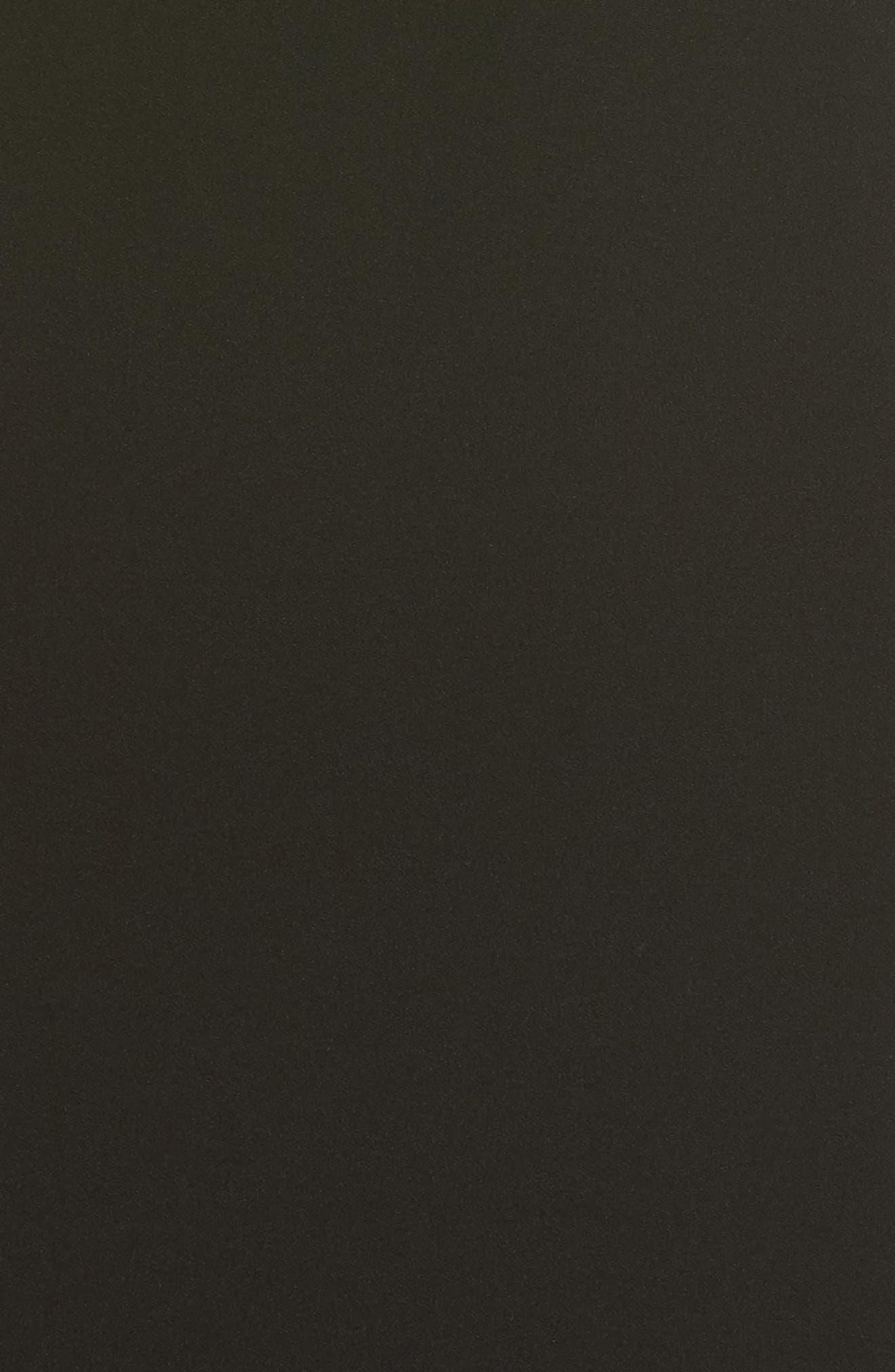 V-Neck Ruffle Hem Sheath Dress,                             Alternate thumbnail 5, color,                             Black