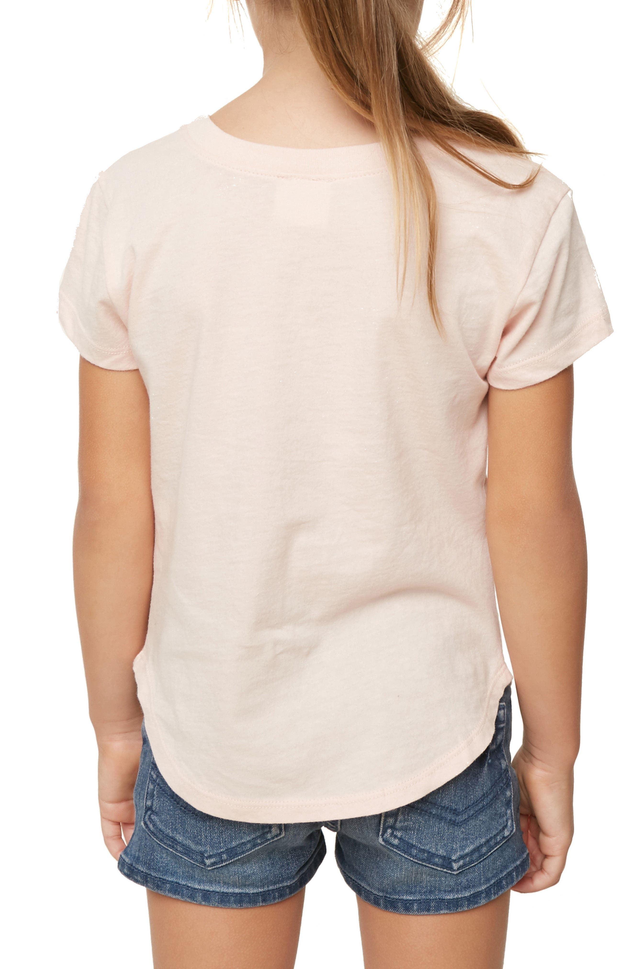 Shell Call Graphic Tee,                             Alternate thumbnail 4, color,                             Cameo Rose