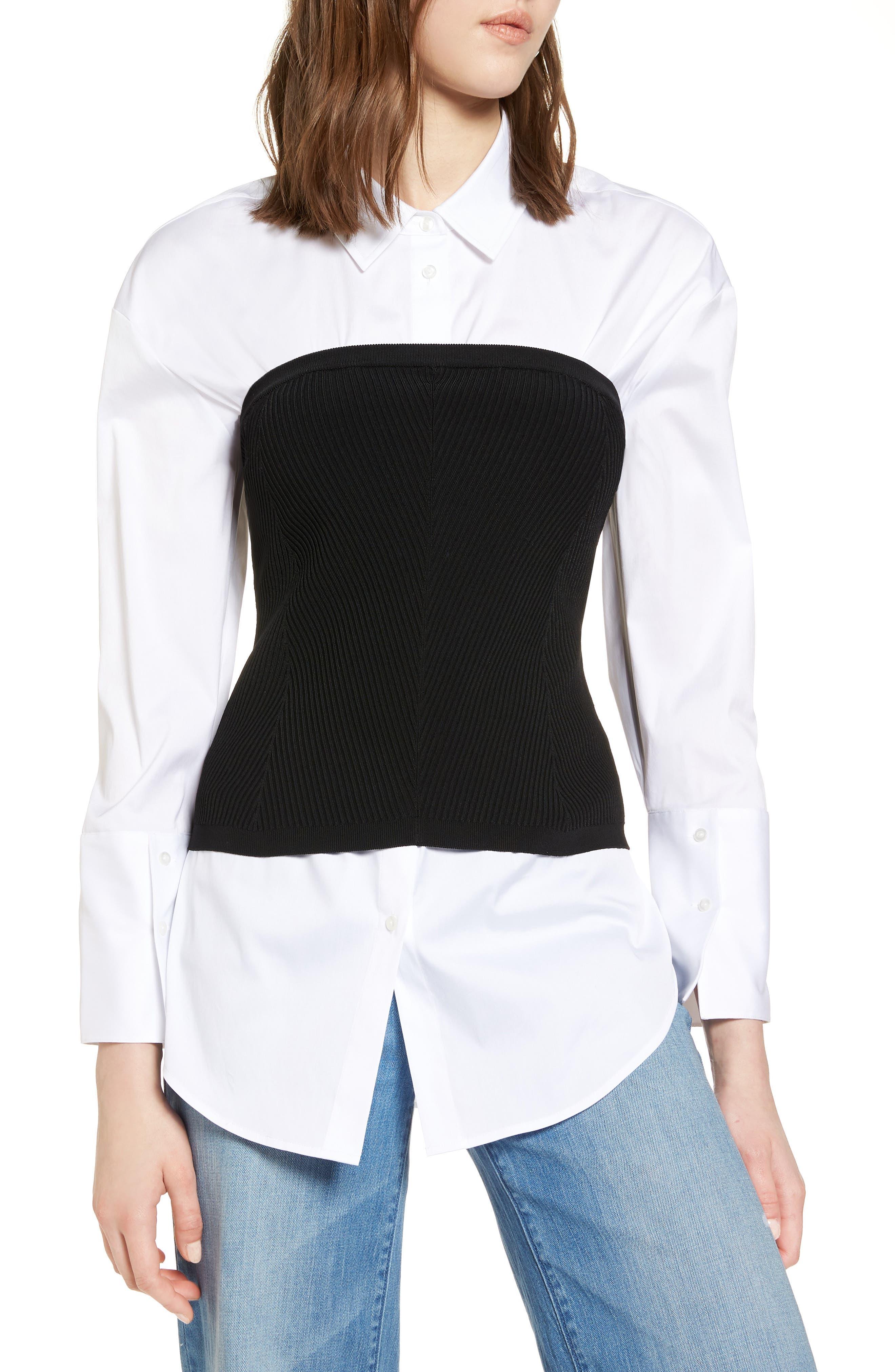 Halogen® Corset Sweater