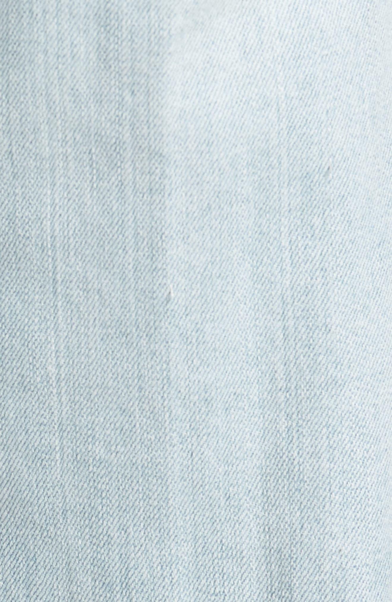 Graduate Slim Straight Leg Jeans,                             Alternate thumbnail 5, color,                             27 Years Bayside