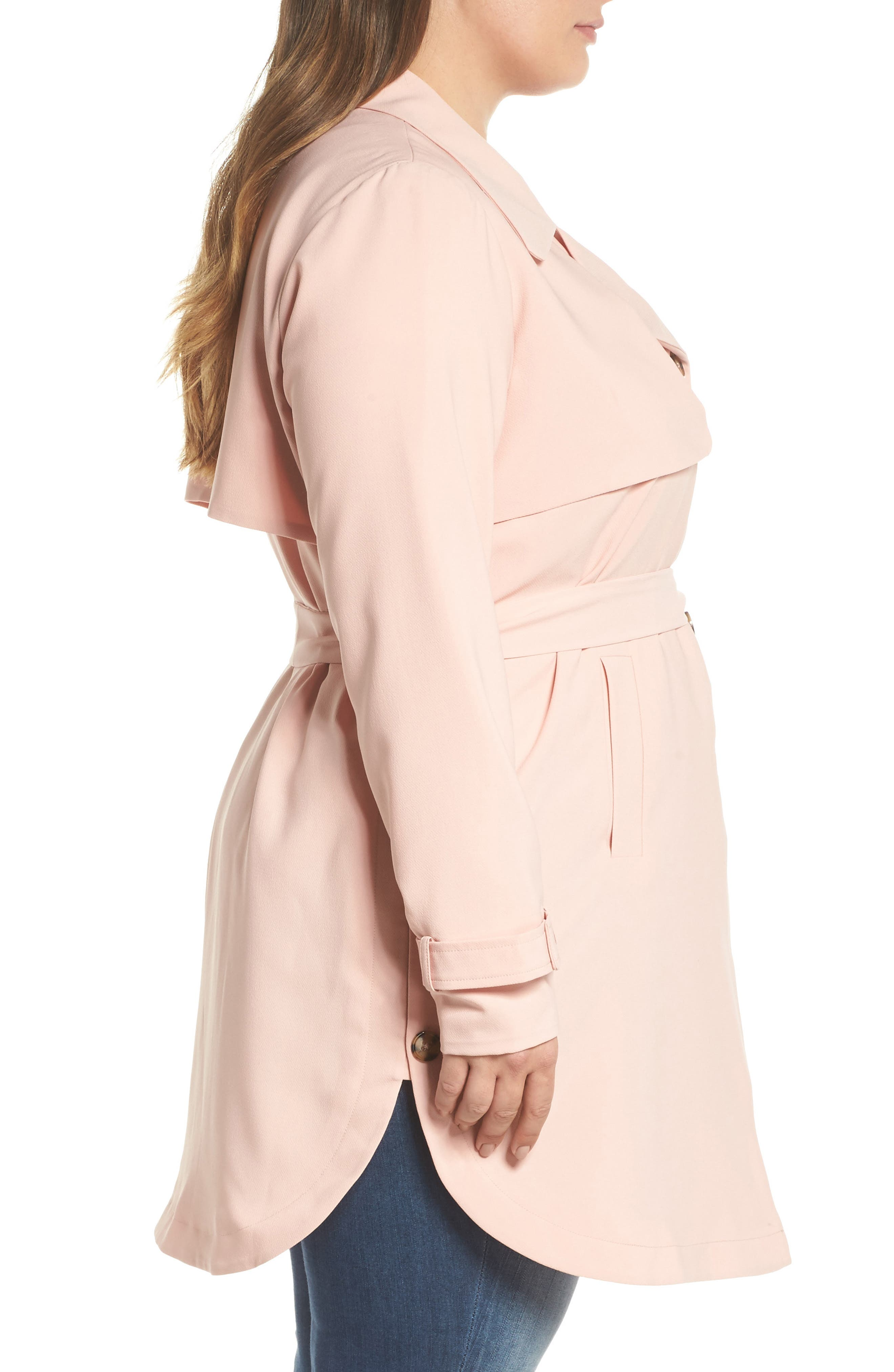 Marina Trench Coat,                             Alternate thumbnail 3, color,                             Coral Cloud