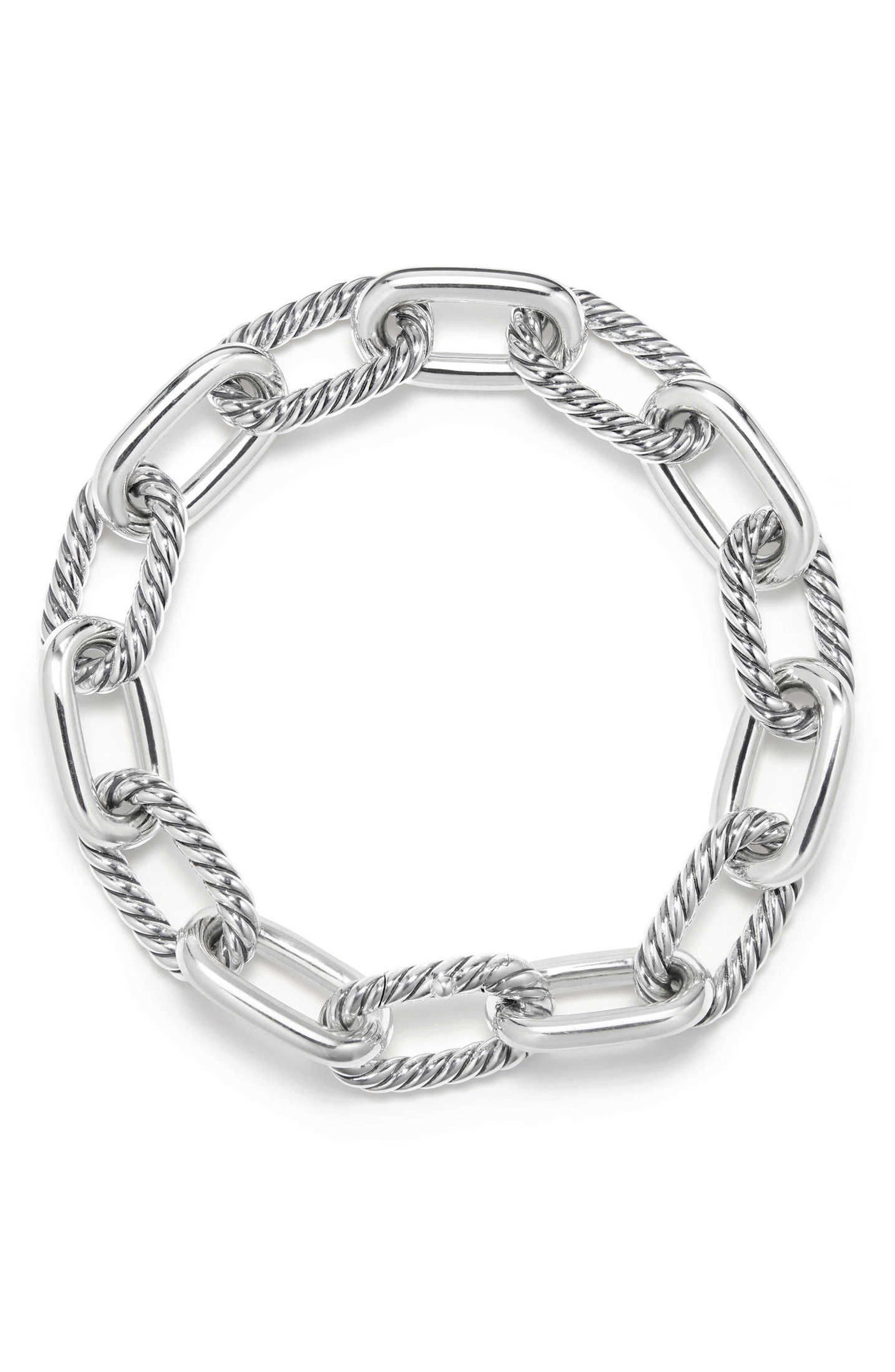 DY Madison Chain Medium Bracelet,                             Alternate thumbnail 2, color,                             Silver