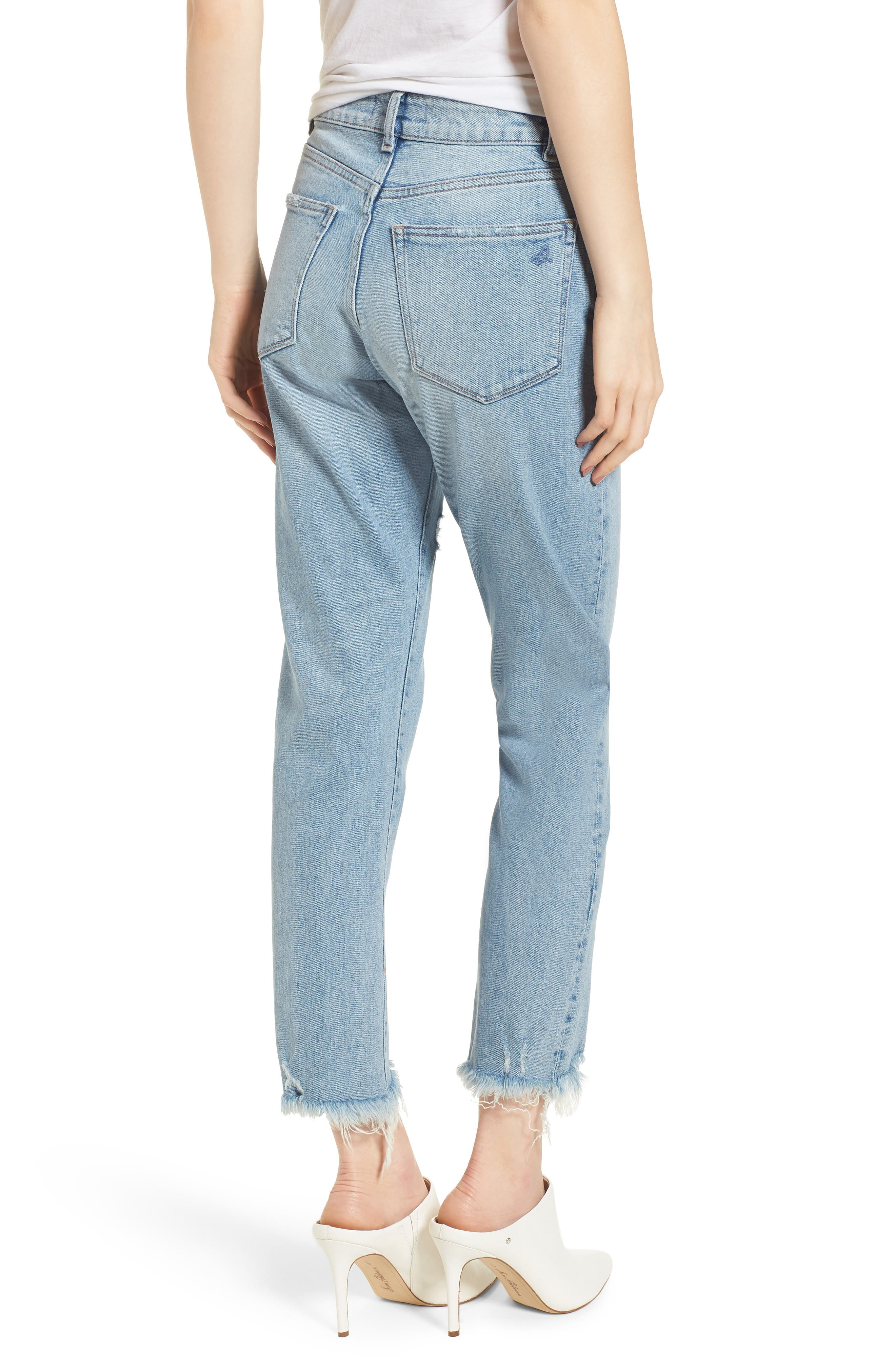 Bella Vintage Crop Slim Jeans,                             Alternate thumbnail 2, color,                             Super Bleach
