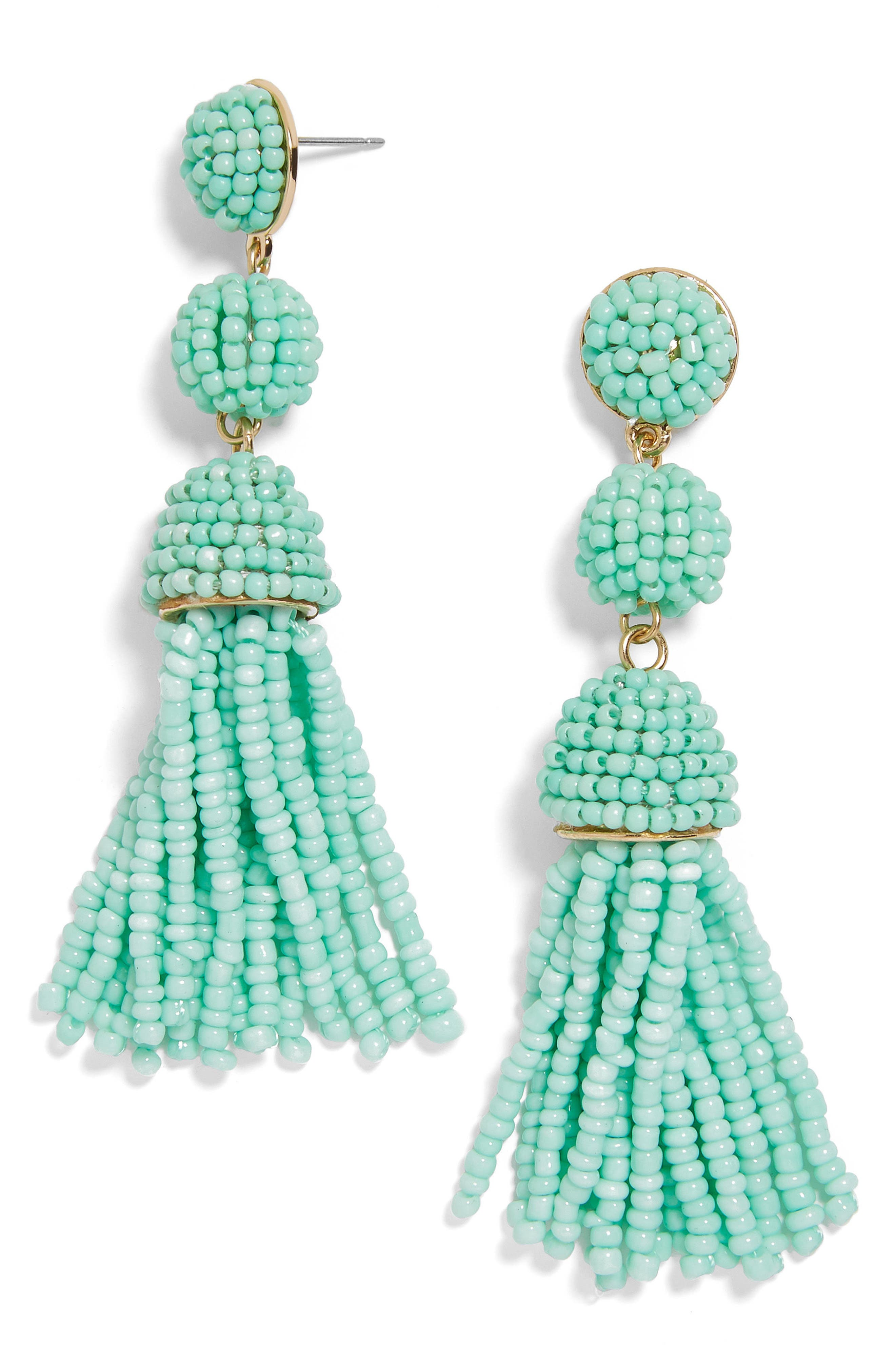 New Mini Granita Tassel Earrings,                             Main thumbnail 1, color,                             Turquoise