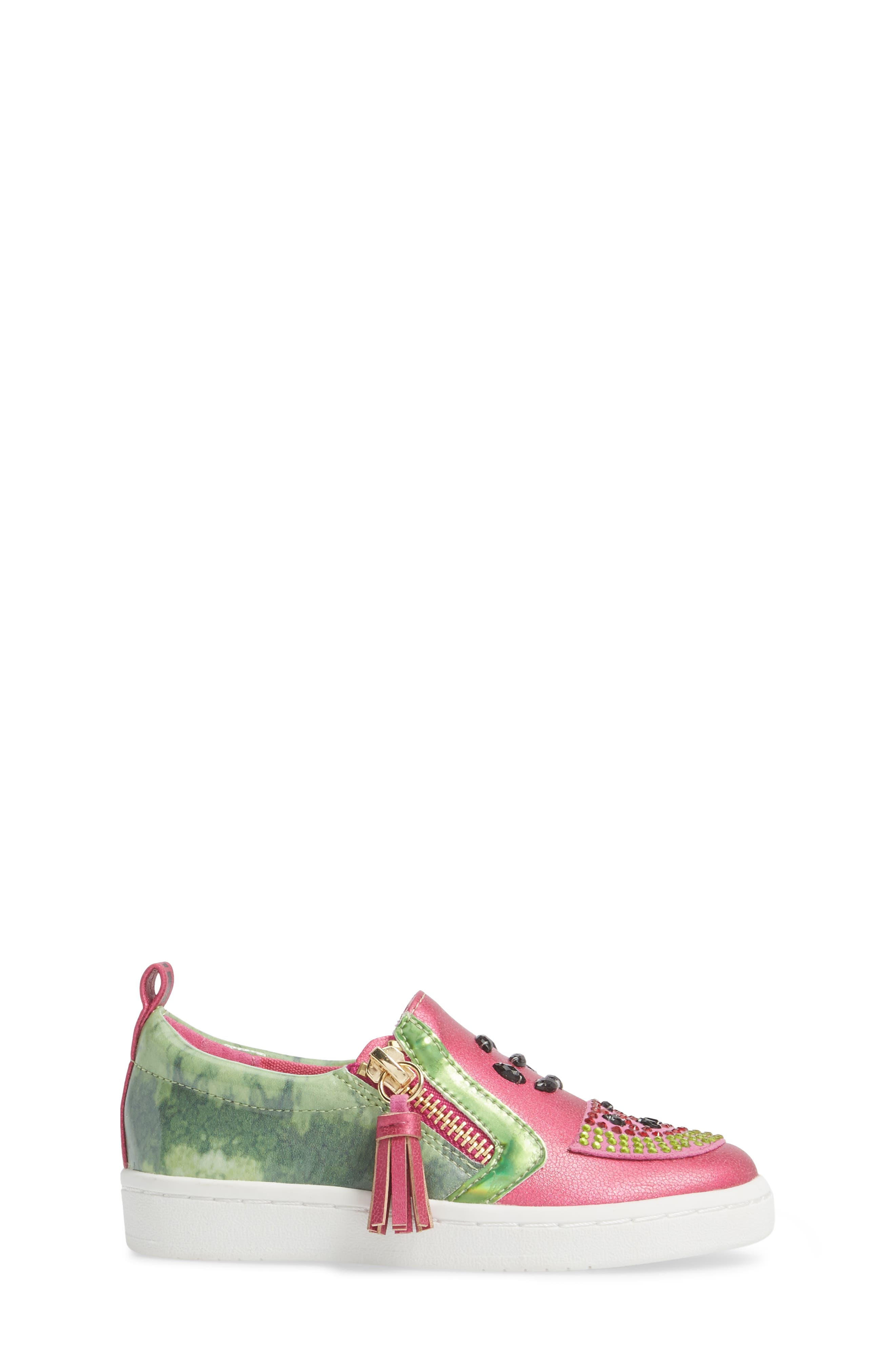 Blane Watermelon Sneaker,                             Alternate thumbnail 3, color,                             Fuchsia Patent Leather