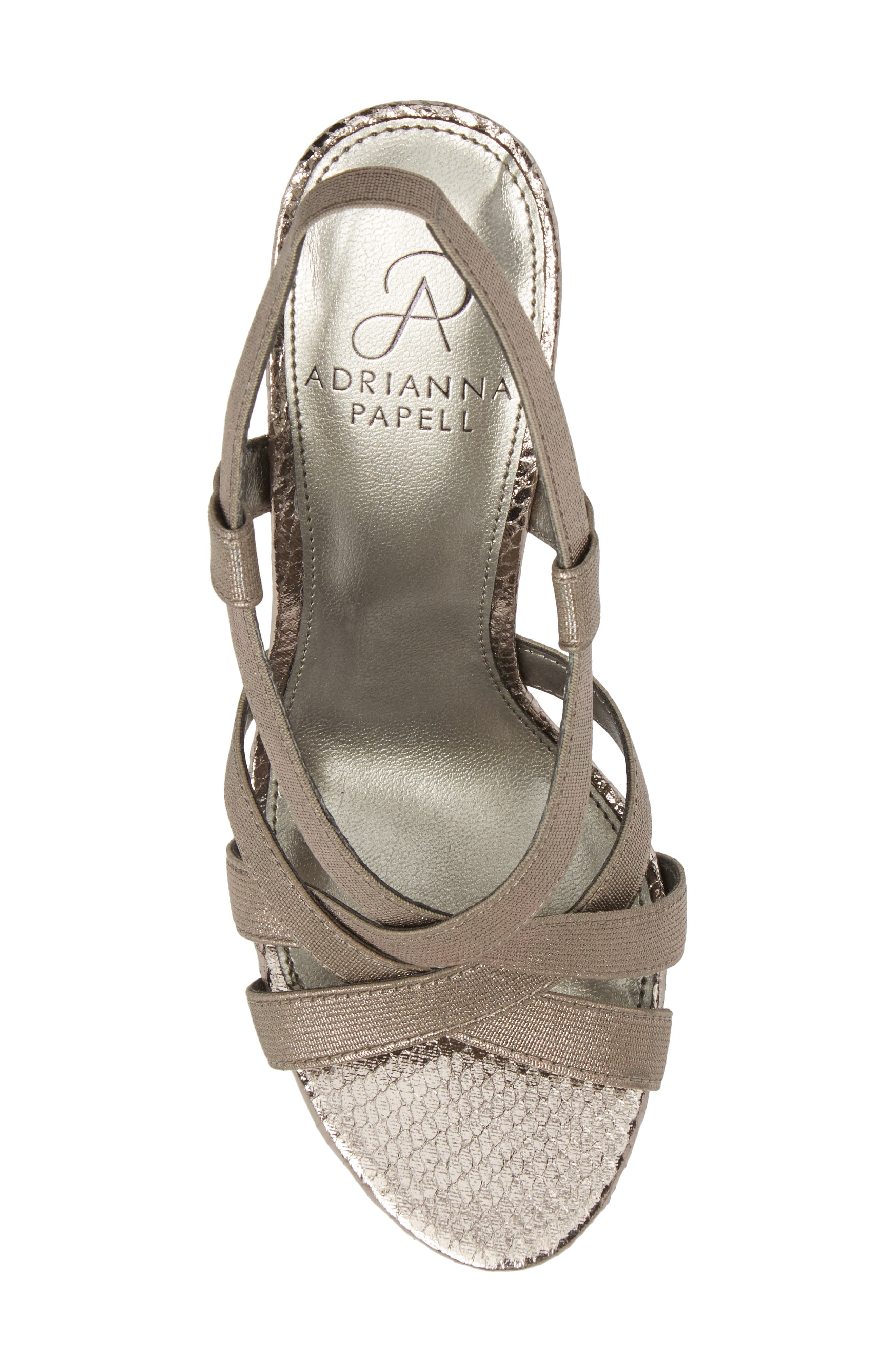 Addie Sandal,                             Alternate thumbnail 5, color,                             Gunmetal Fabric