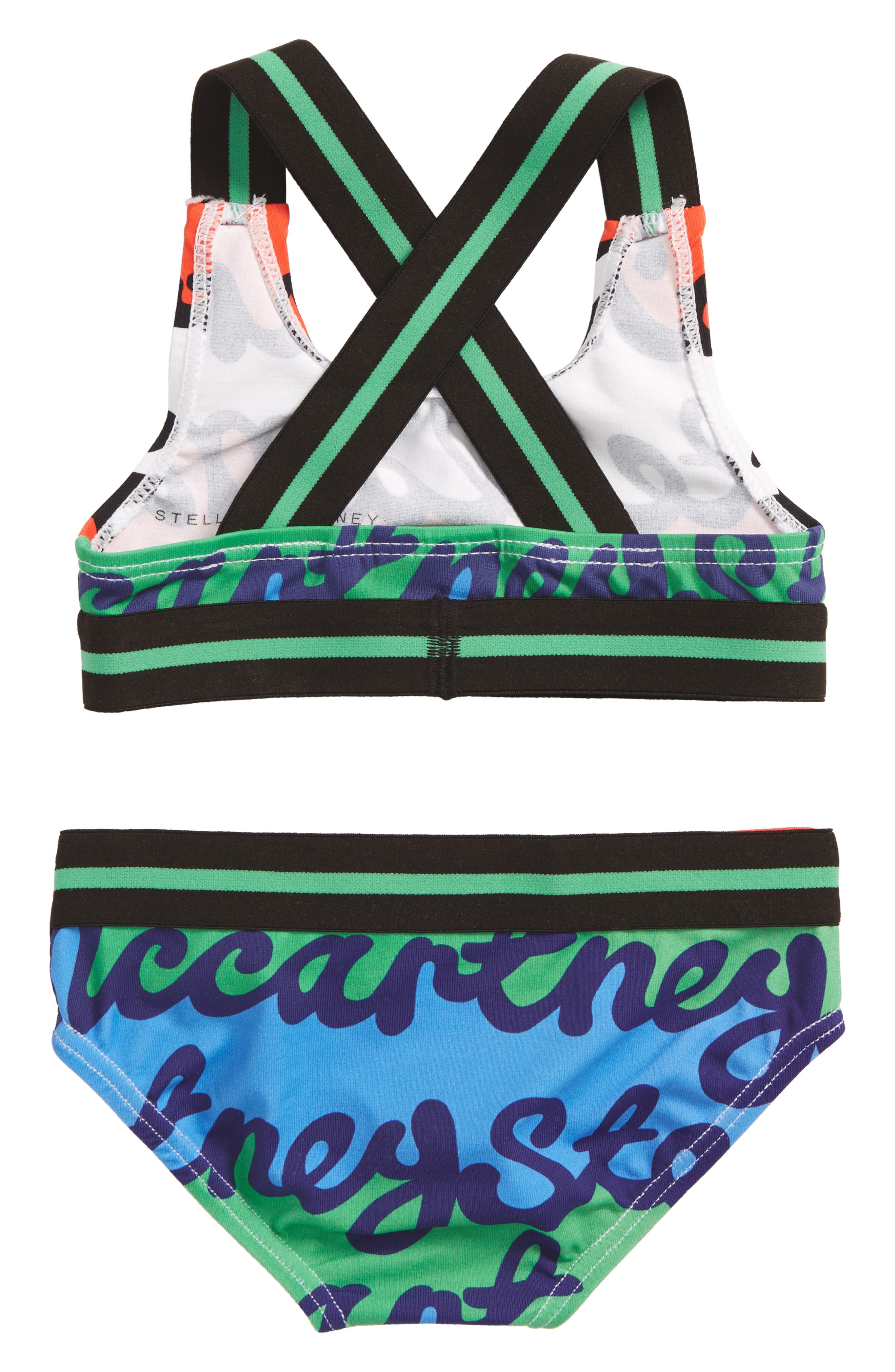 Gloria Two-Piece Swimsuit,                             Alternate thumbnail 2, color,                             Writing Repeat Print