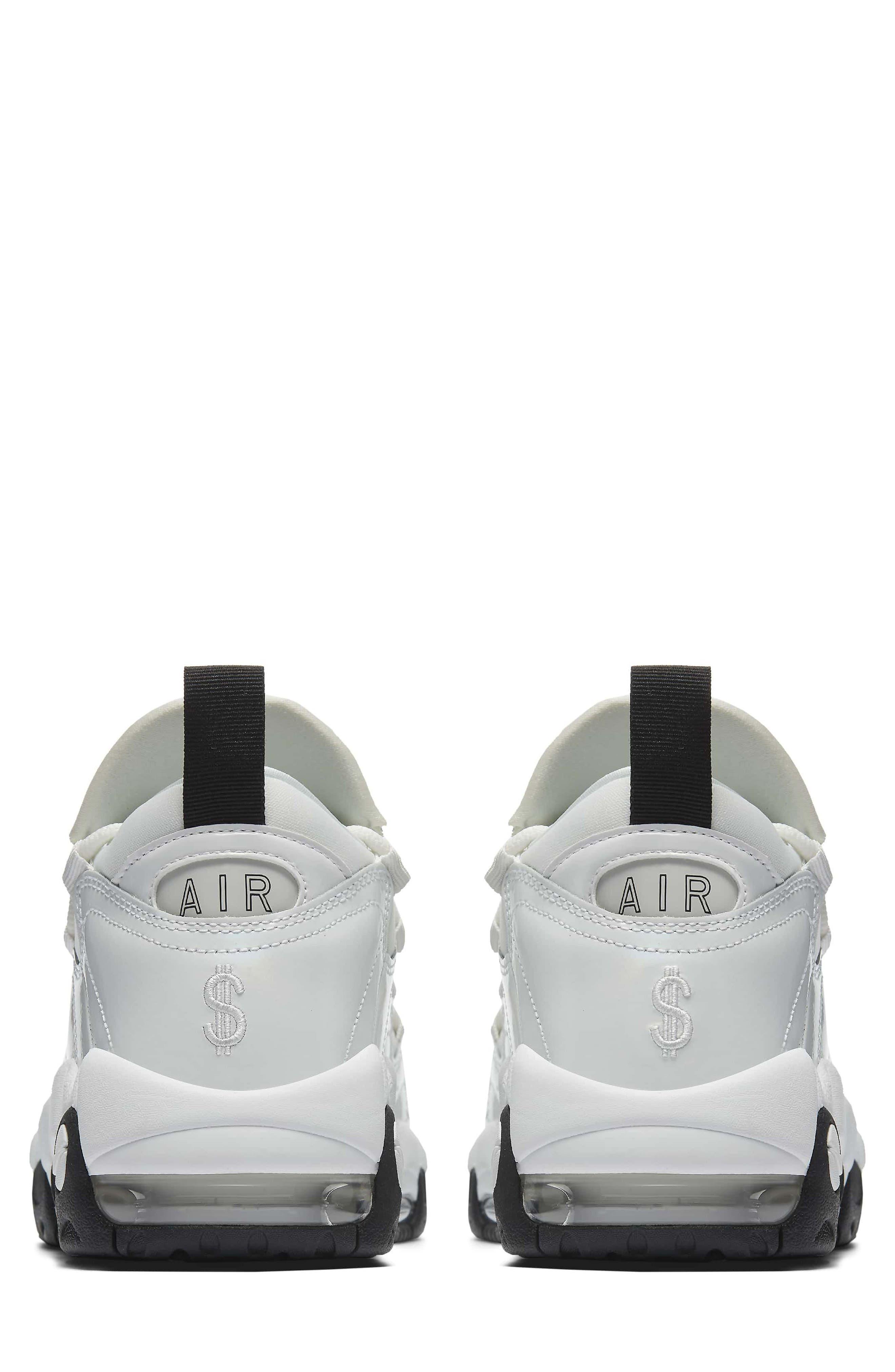 Air More Money LX Sneaker,                             Alternate thumbnail 2, color,                             Summit White/ Black