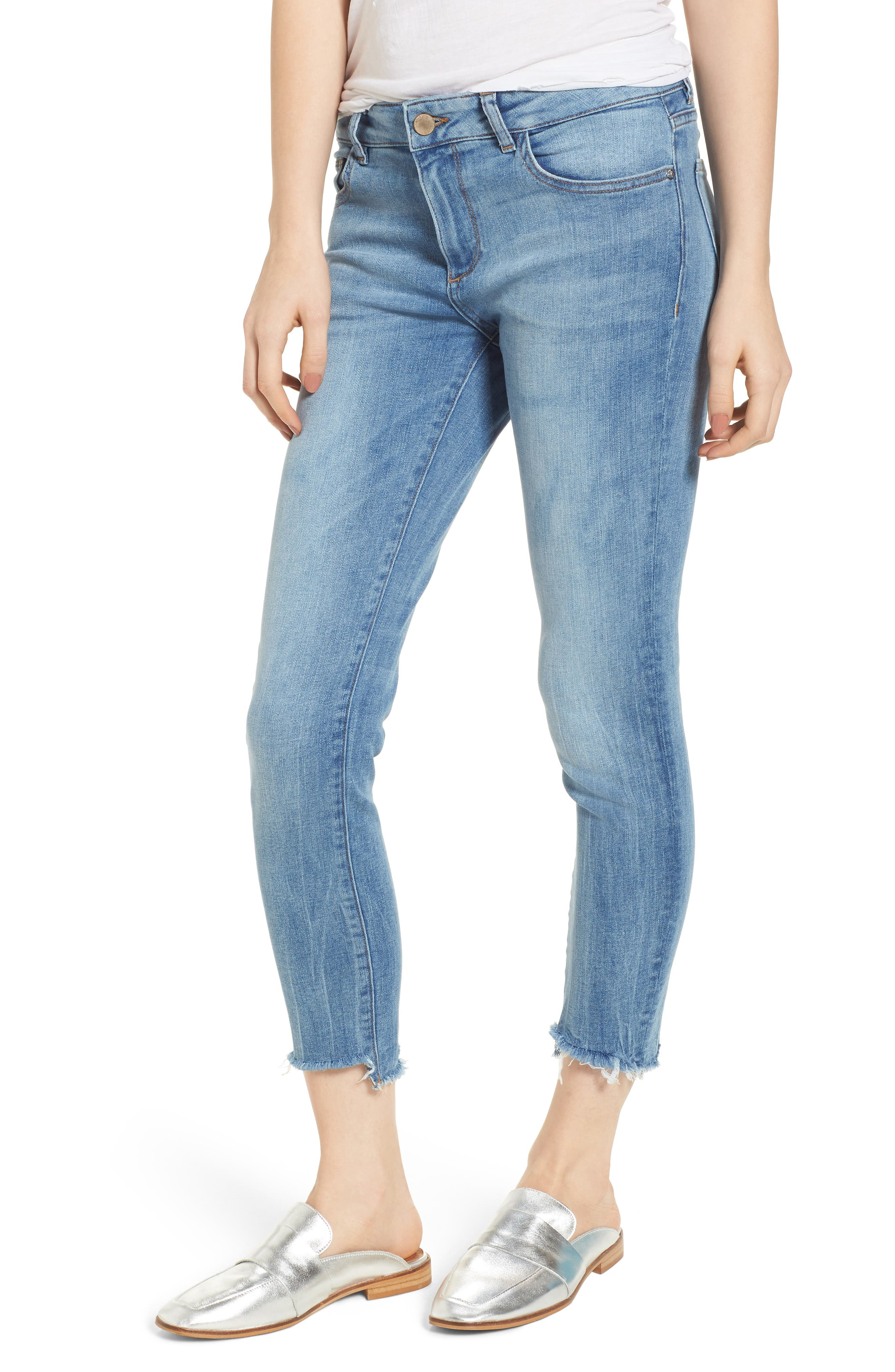 Florence Instasculpt Crop Skinny Jeans,                         Main,                         color, Cavalier